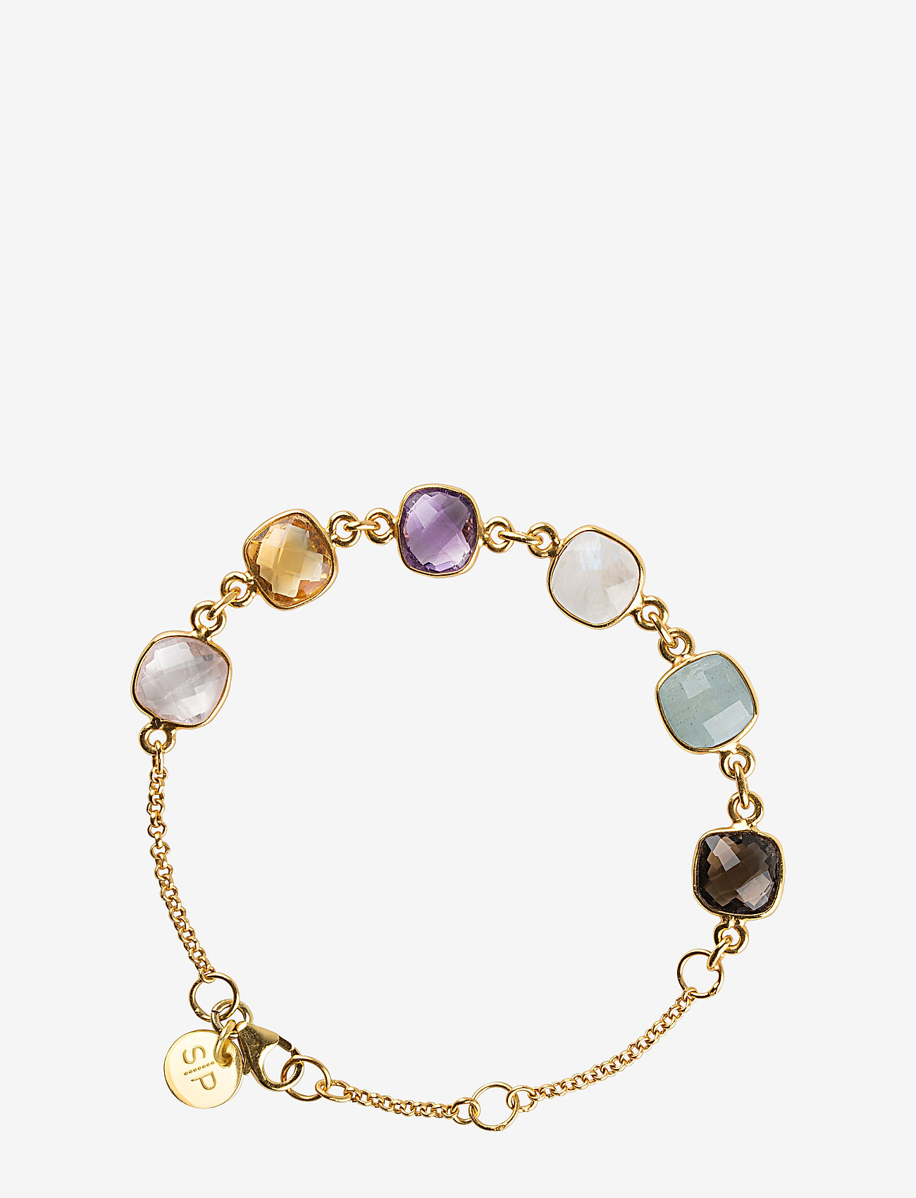 Syster P Cushion Bracelet Gold Aquamarine - Smycken