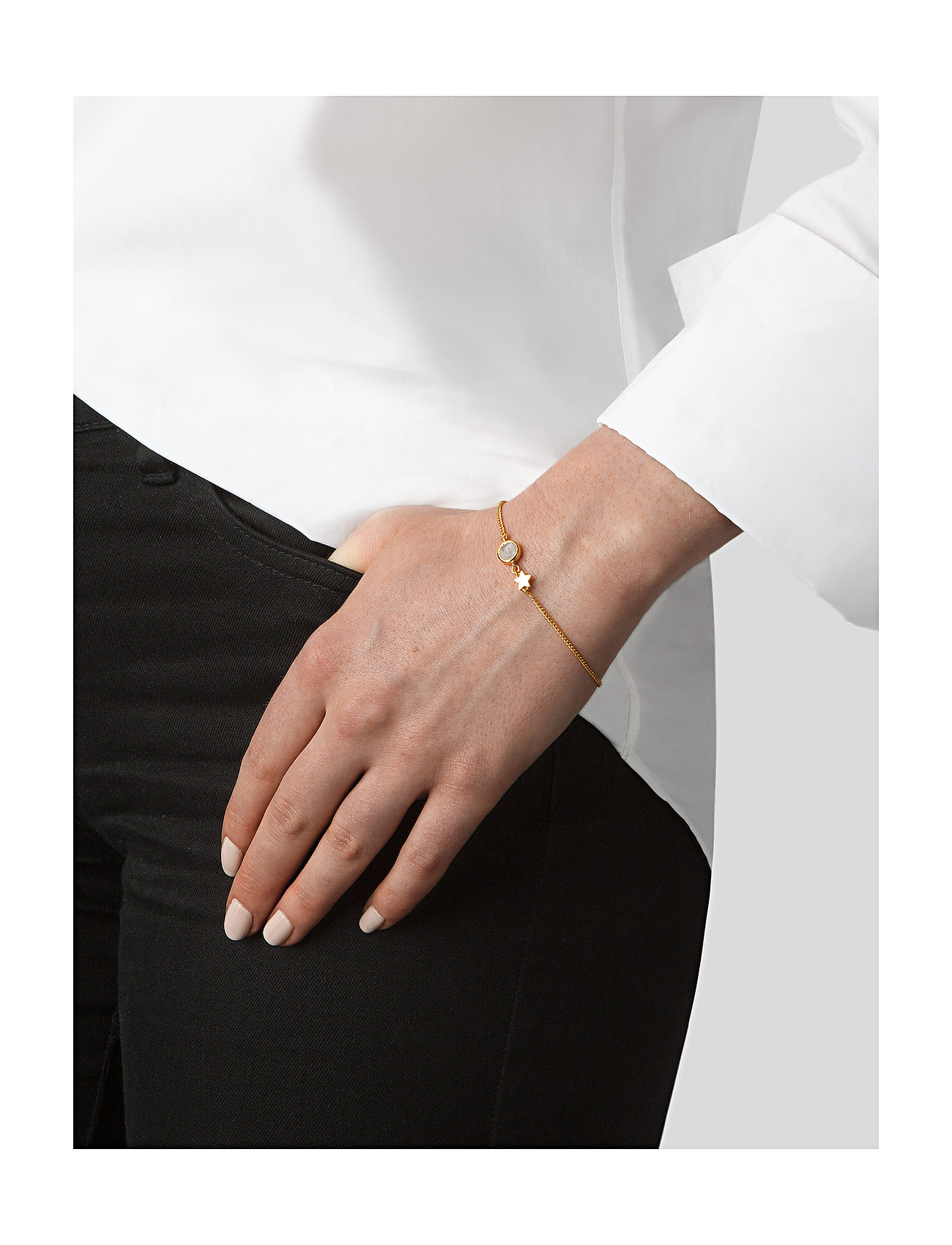 Syster P Priscilla Bracelet Gold Moonstone - Bijouterie Exclusif