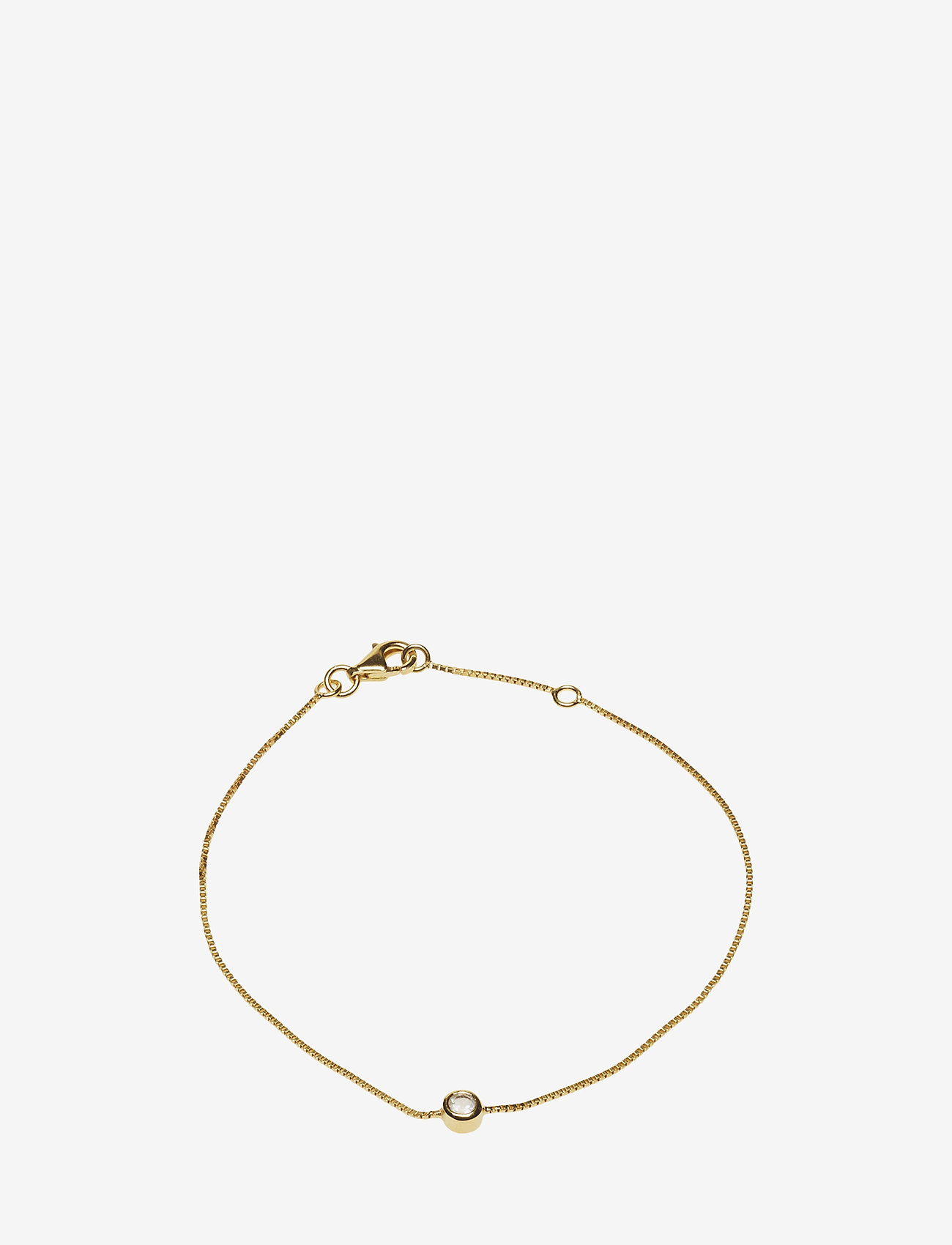 Syster P - MINIMALISTICA SOLO BRACELET GOLD CRYSTAL - dainty - gold - 0