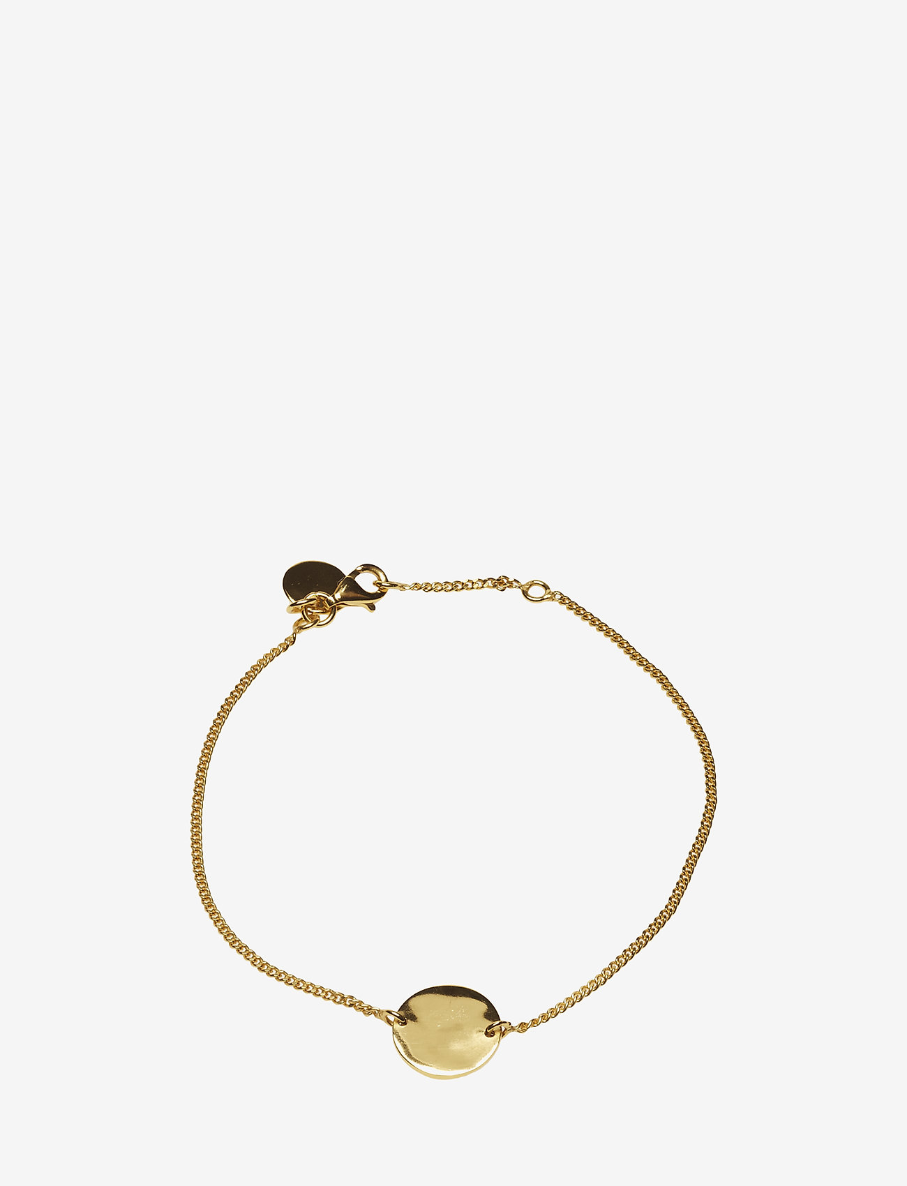 Syster P - MINIMALISTICA HAMMERED CIRCLE BRACELET GOLD - gold - 0