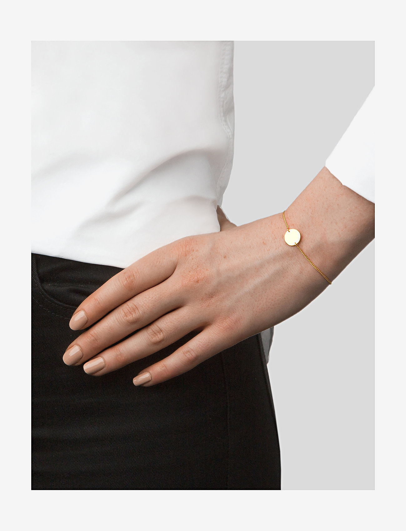 Syster P - MINIMALISTICA HAMMERED CIRCLE BRACELET GOLD - gold - 1