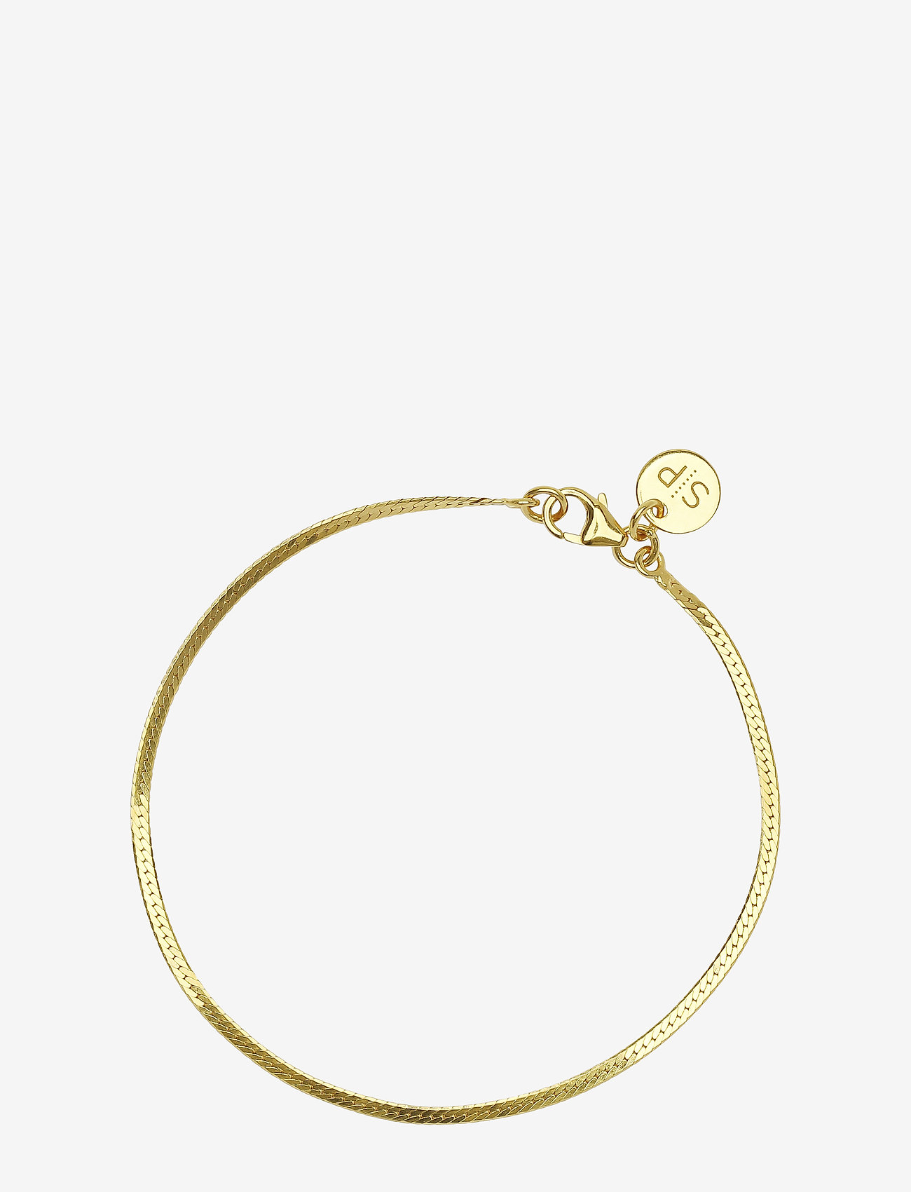 Syster P - Herringbone Bracelet Gold - dainty - gold - 0