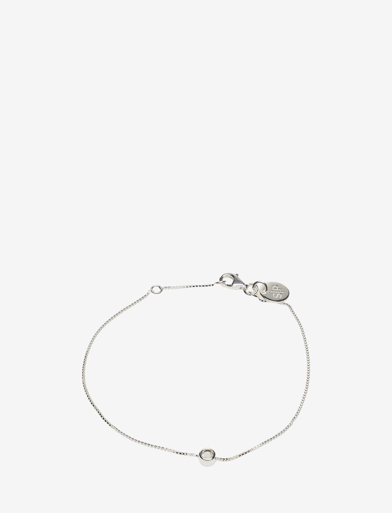 Syster P - MINIMALISTICA SOLO BRACELET SILVER CRYSTAL - dainty - silver - 0