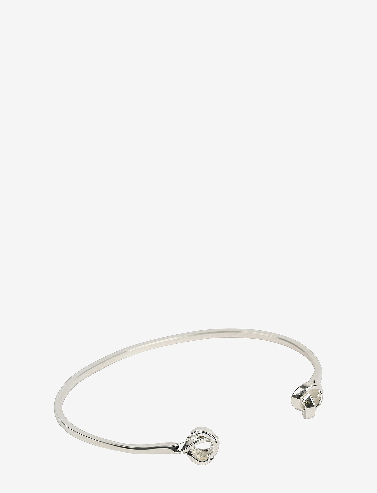 Syster P - Tied Bangle Silver - bangles - silver