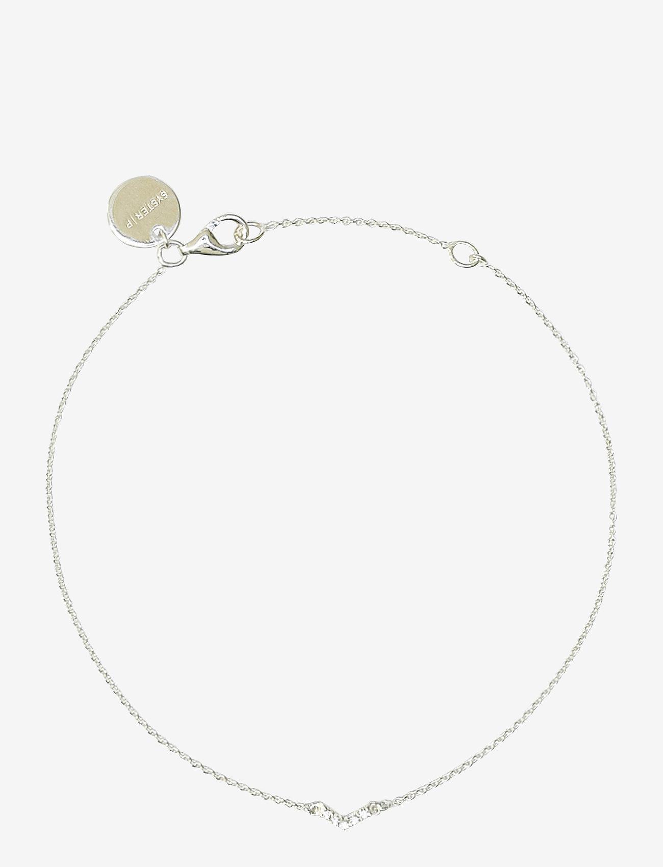 Syster P - Mini Arrow Bracelet Silver - dainty - silver - 0