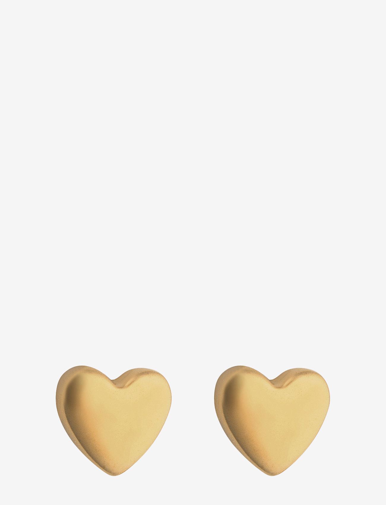 Syster P - Sparkle Heart Earrings - stud oorbellen - gold - 0