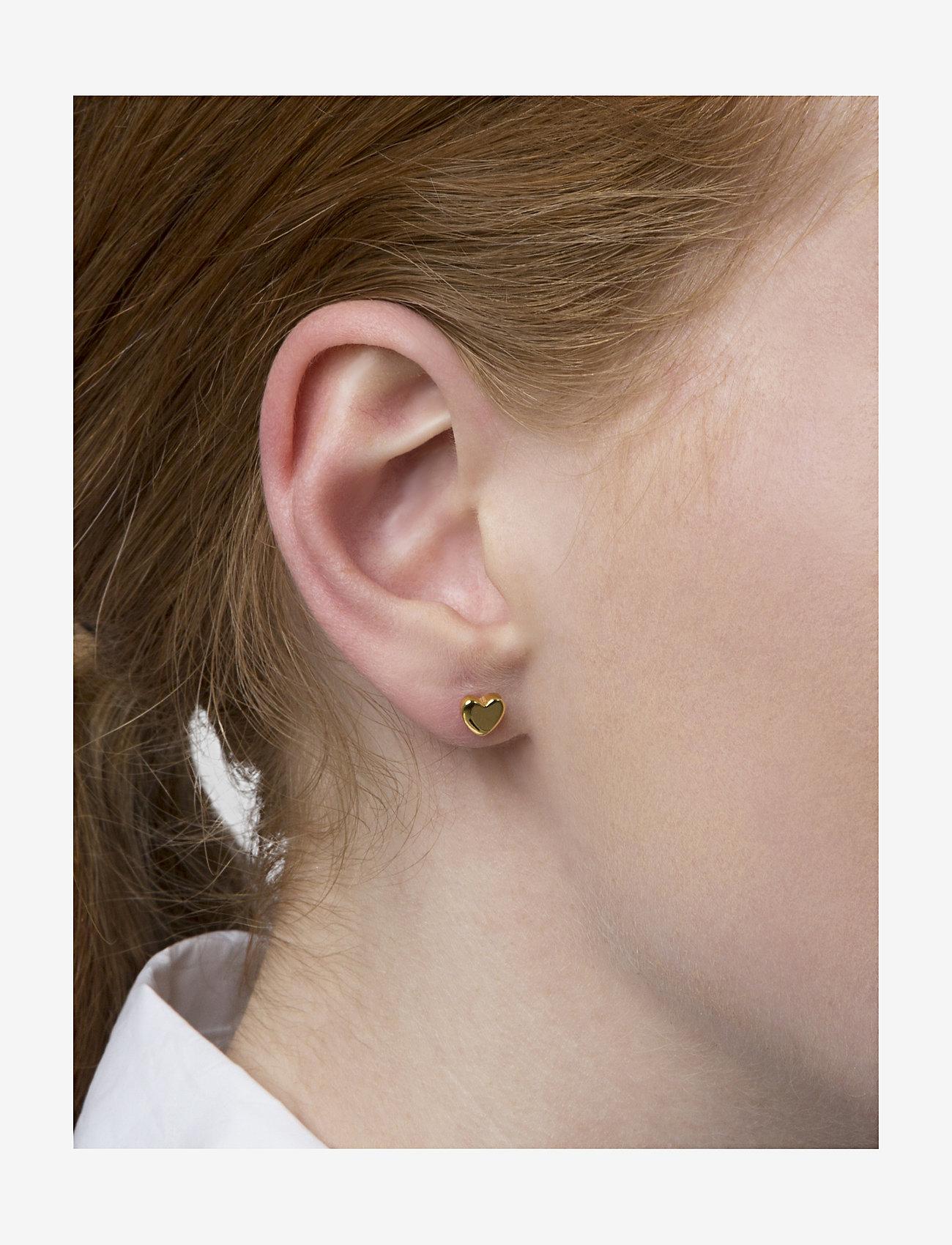 Syster P - Sparkle Heart Earrings - stud oorbellen - gold - 1