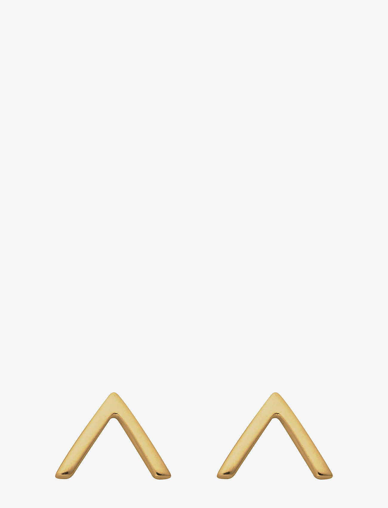 Syster P - Strict Plain V Earrings Gold - studs - gold - 0