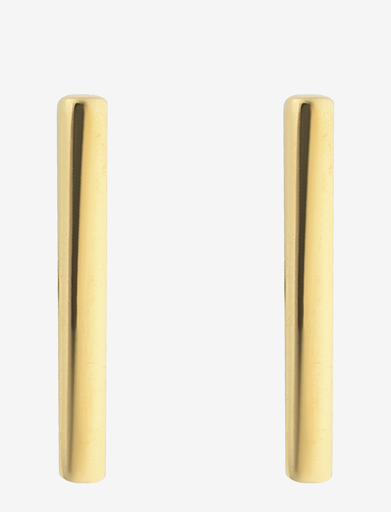 Syster P - Strict Plain Bar Earrings Gold - oorhangers - gold - 0