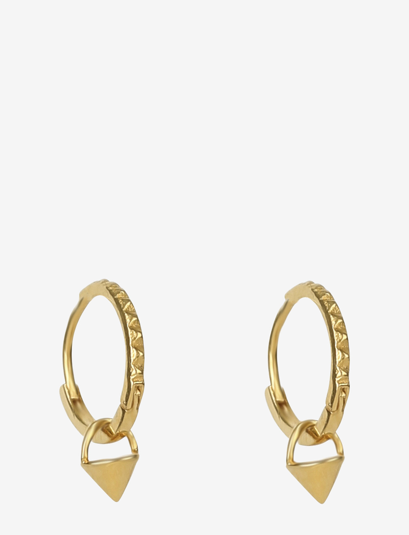 Syster P - Mini Cone Hoop Earrings Gold - hopen - gold - 0