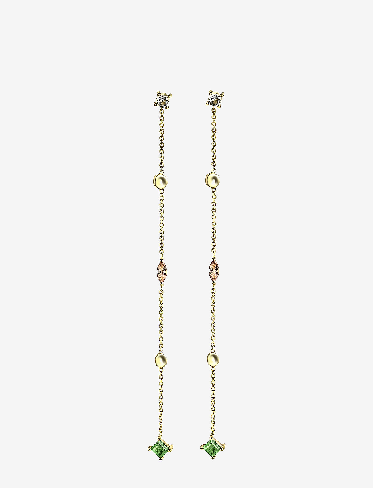 Syster P - Divine Long Earrings Gold - pendant - gold