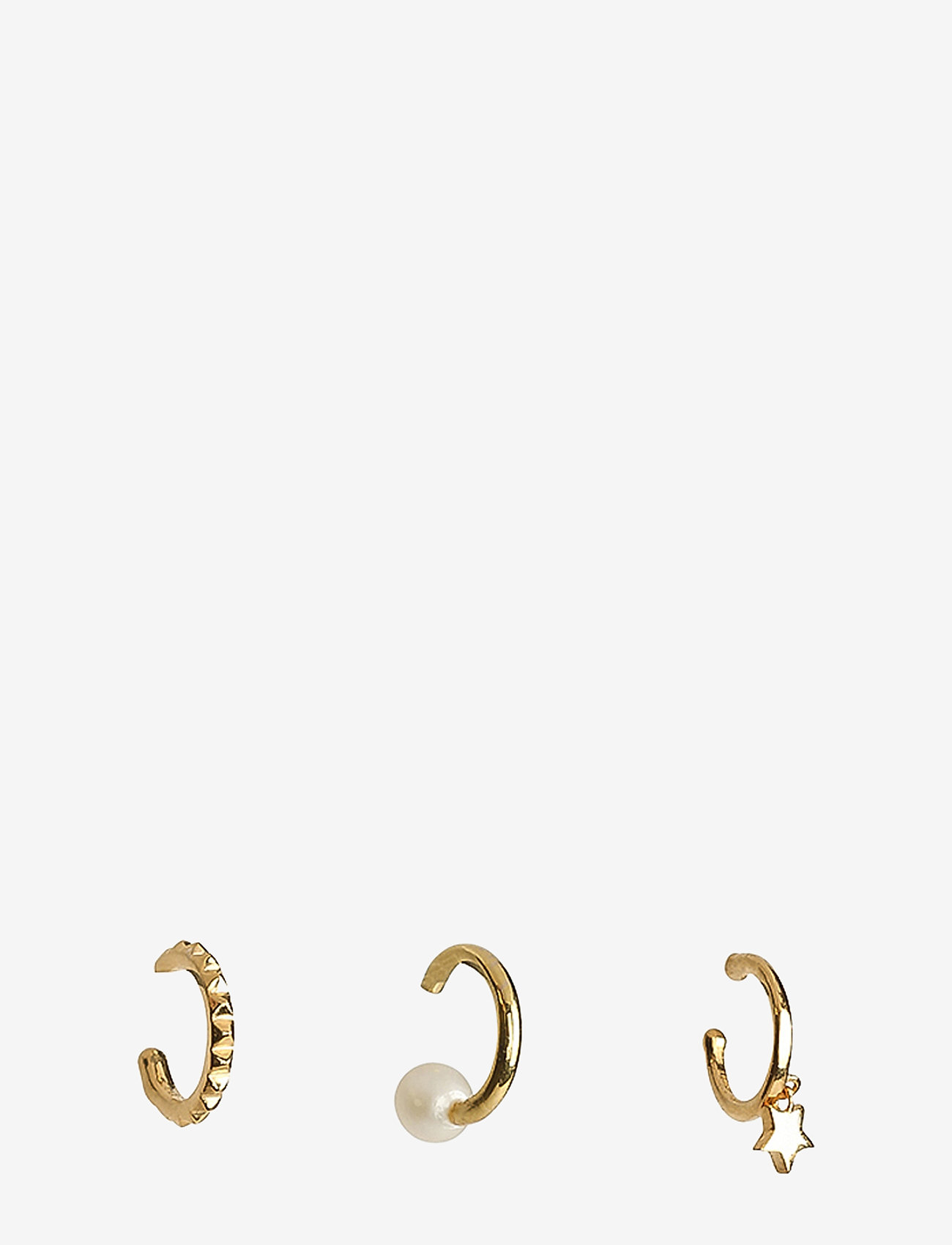 Syster P - Mini Cuff Collection Pearl And Star Gold - ear cuffs - gold - 0