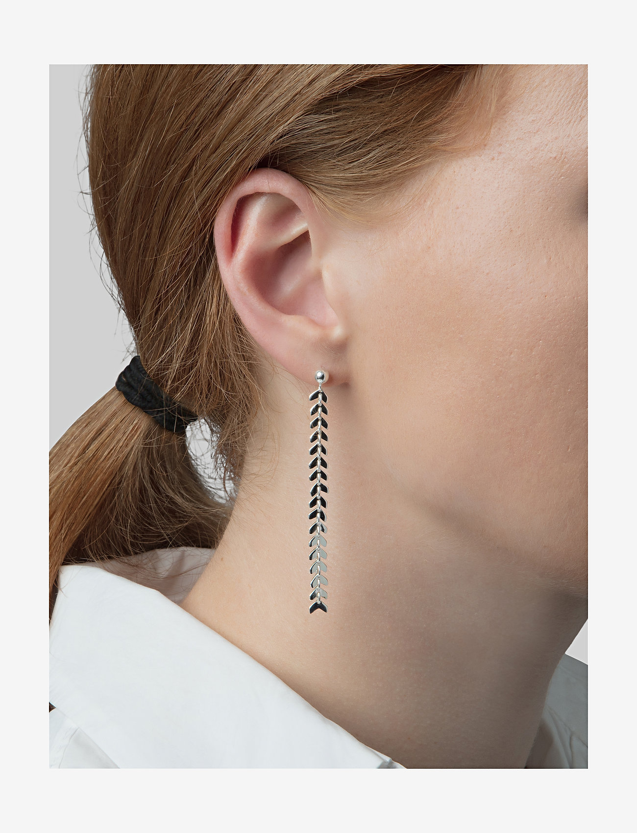 Syster P - Layers Olivia Earrings Silver - oorhangers - silver - 1