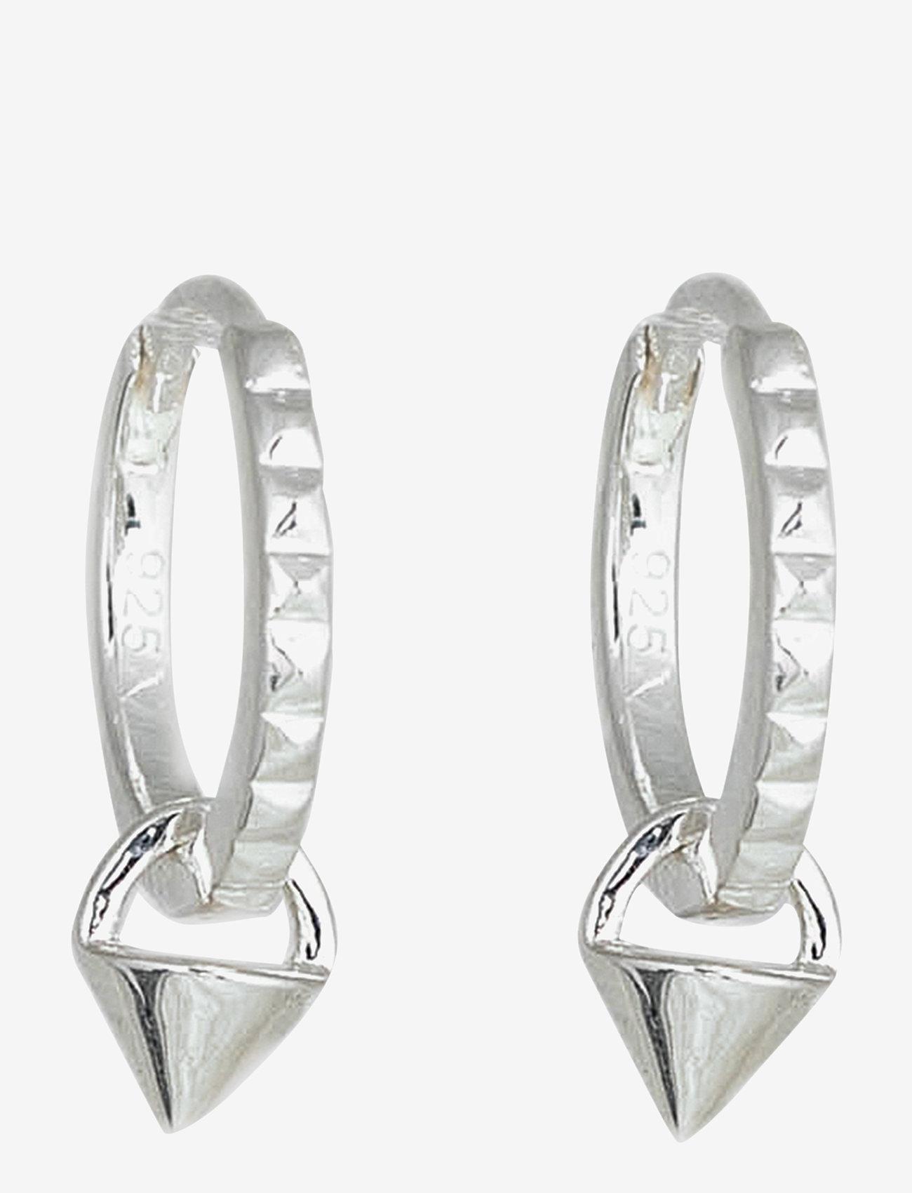 Syster P - Mini Cone Hoop Earrings Silver - hopen - silver - 0