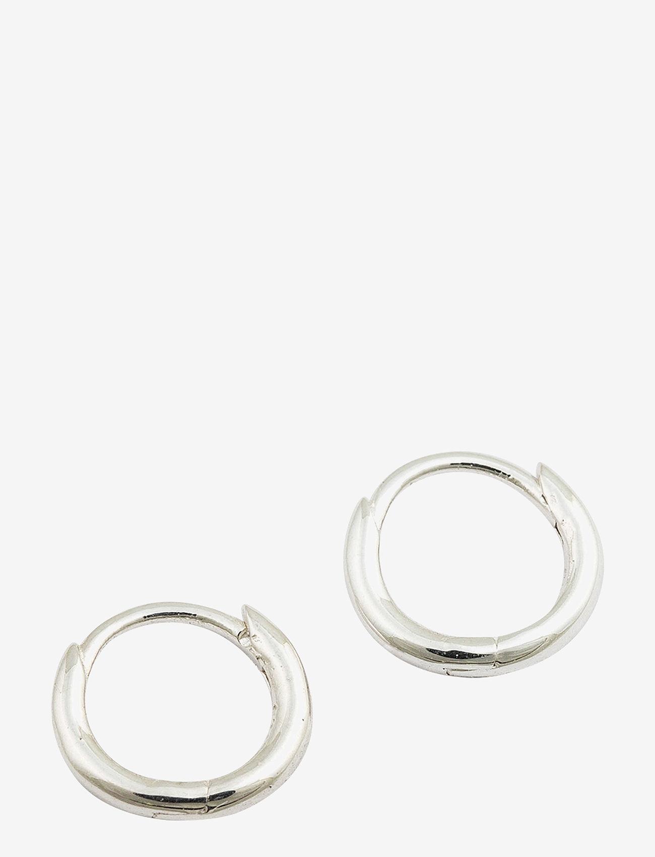 Syster P - Mini Hoop Earrings Silver - hopen - silver - 0