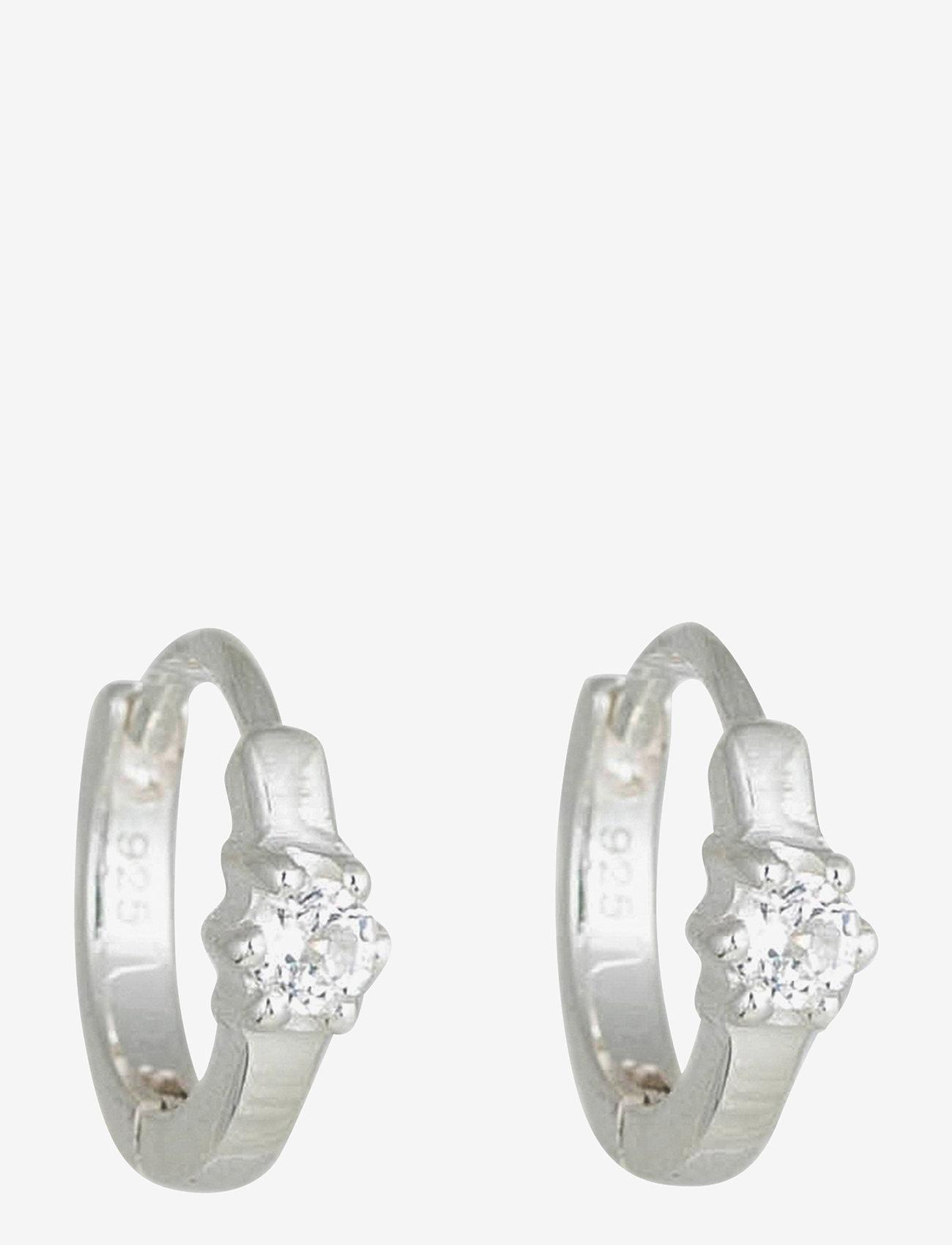 Syster P - Mini Princess Hoop Earrings Silver - hopen - silver - 1