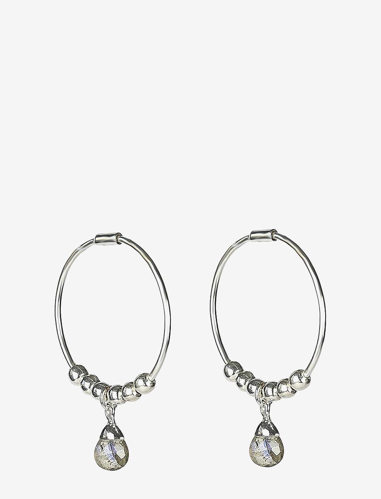 Syster P - Mini Teardrop Earrings Silver - hopen - silver - 0