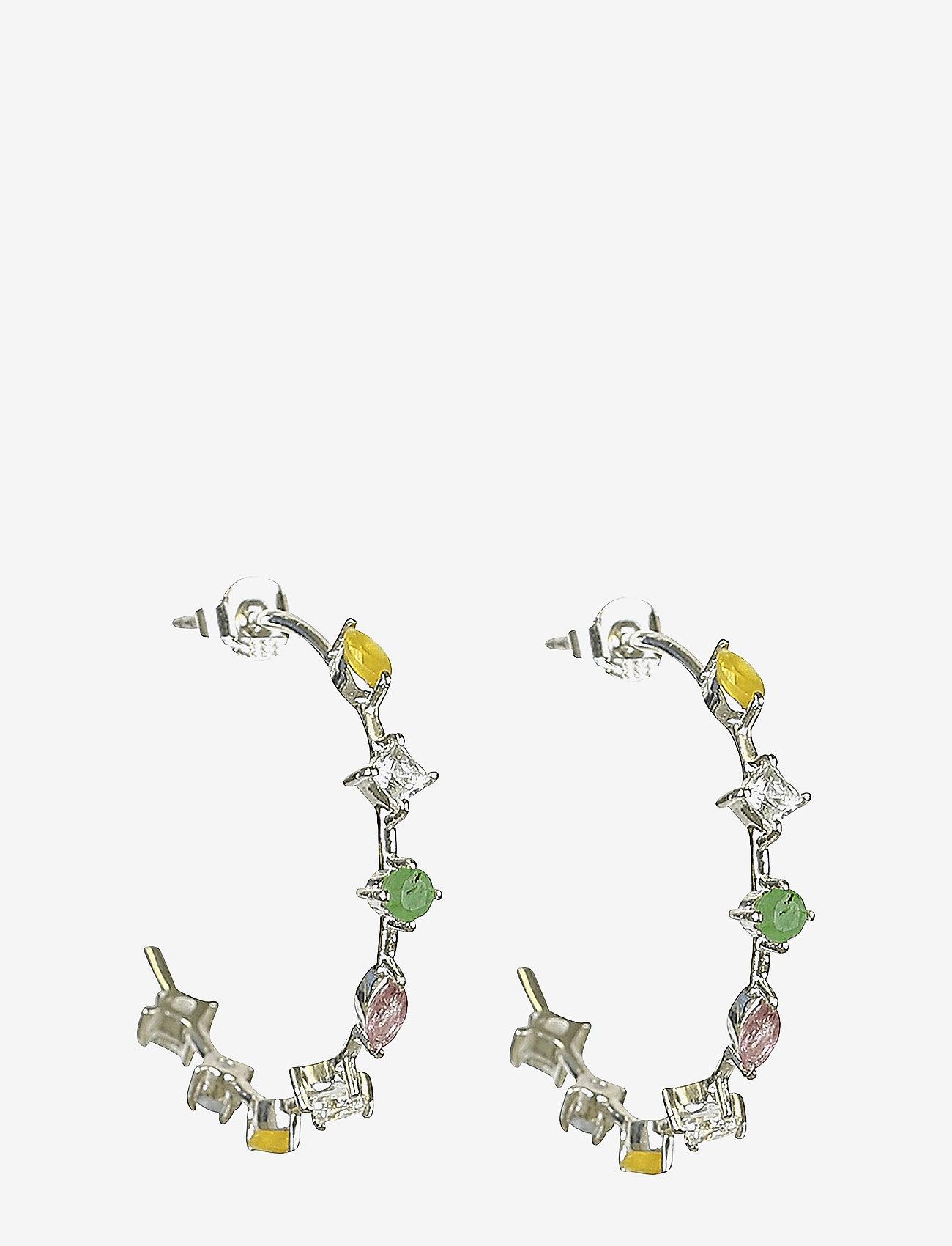 Syster P - Divine Hoop Earrings Silver - hopen - silver - 0