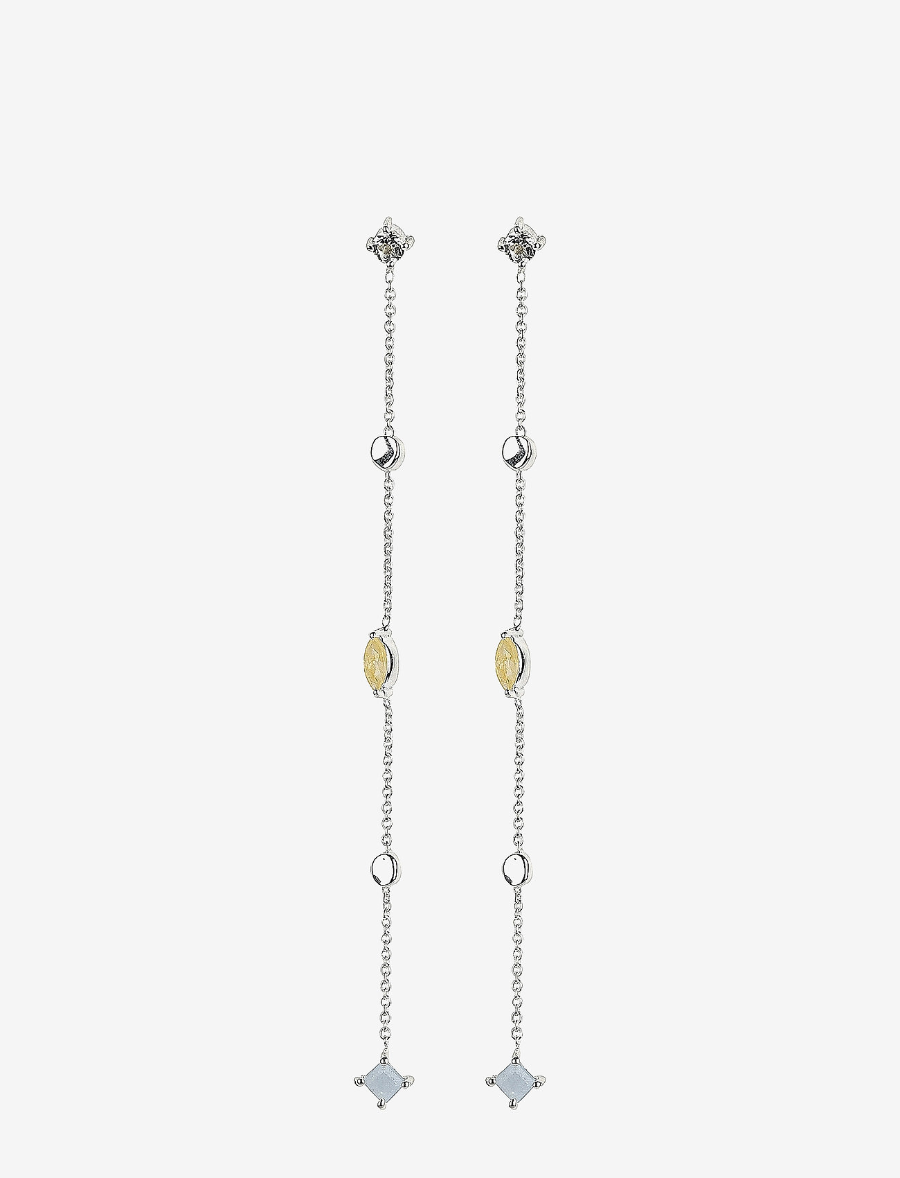 Syster P - Divine Long Earrings Silver - pendant - silver