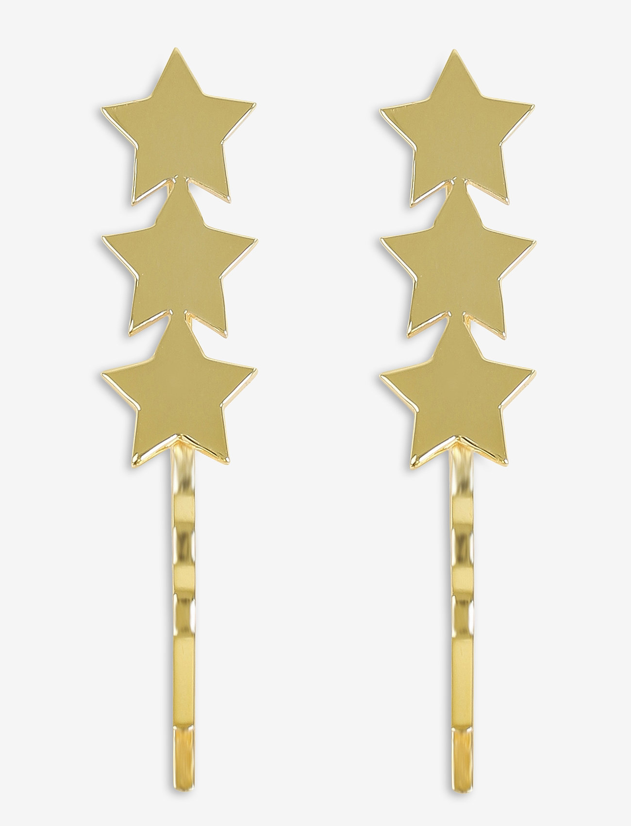 Syster P - Star Bobby Pin Set Gold - oorhangers - gold - 0