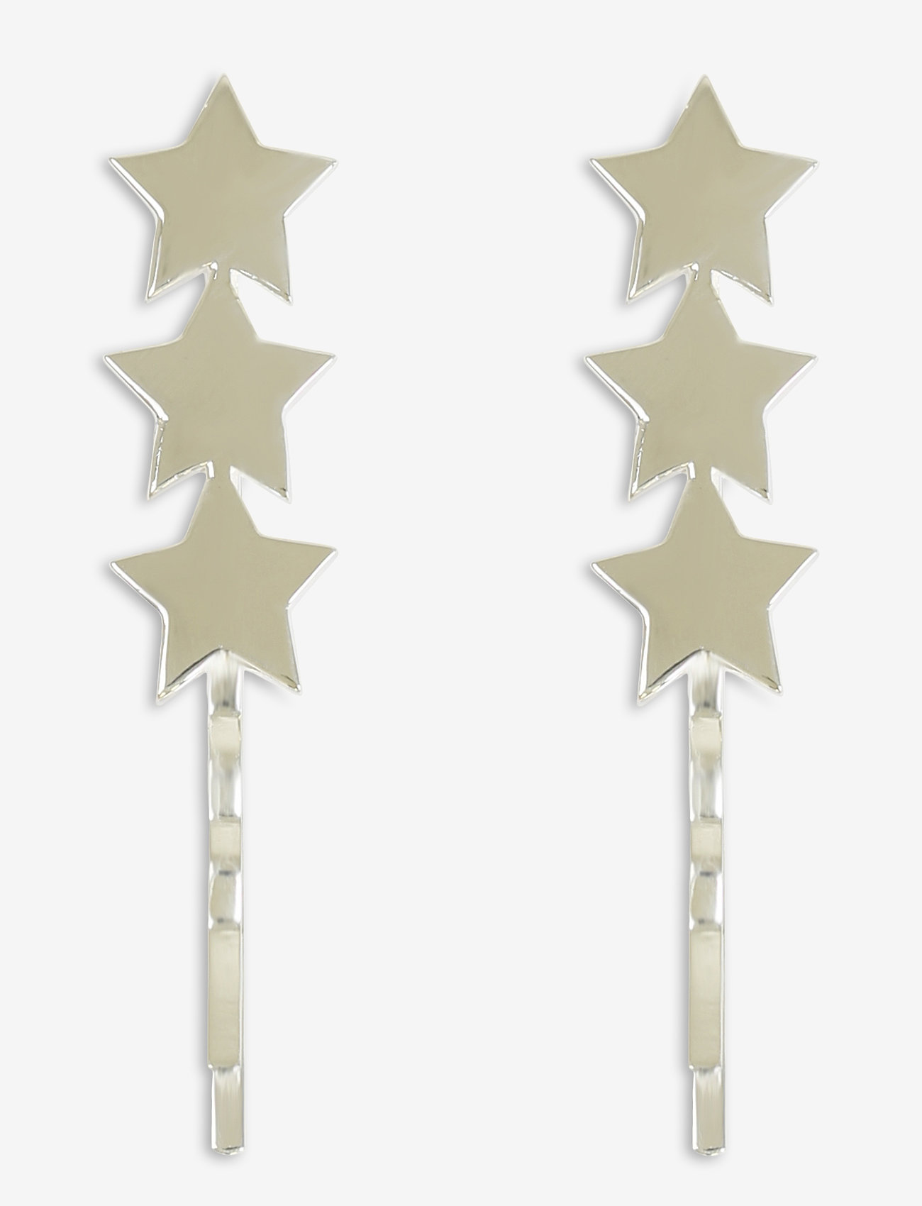 Syster P - Star Bobby Pin Set Silver - oorhangers - silver - 0