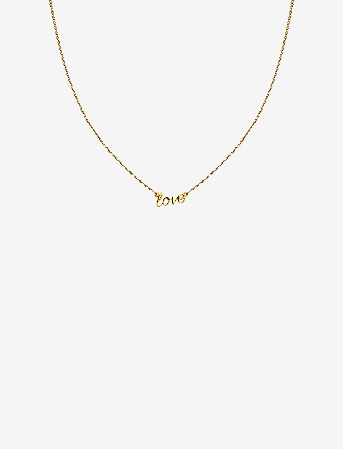 Syster P - SNAP NECKLACE LOVE GOLD - kettingen met hanger - gold - 0