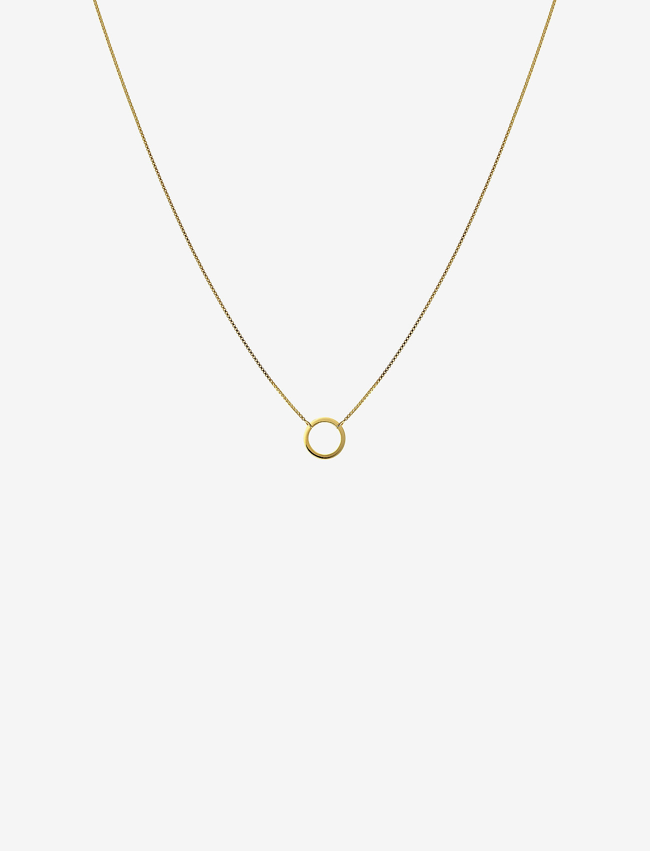 Syster P - MINIMALISTICA RING NECKLACE GOLD - kettingen met hanger - gold - 0