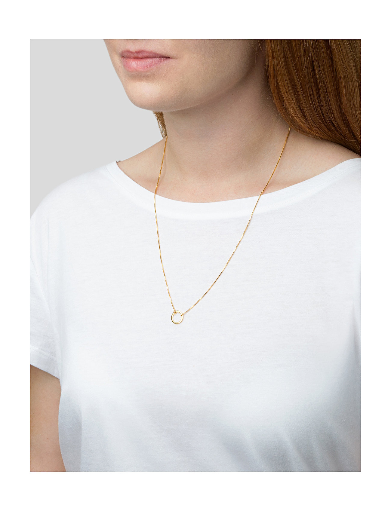 Syster P - MINIMALISTICA RING NECKLACE GOLD - kettingen met hanger - gold - 1