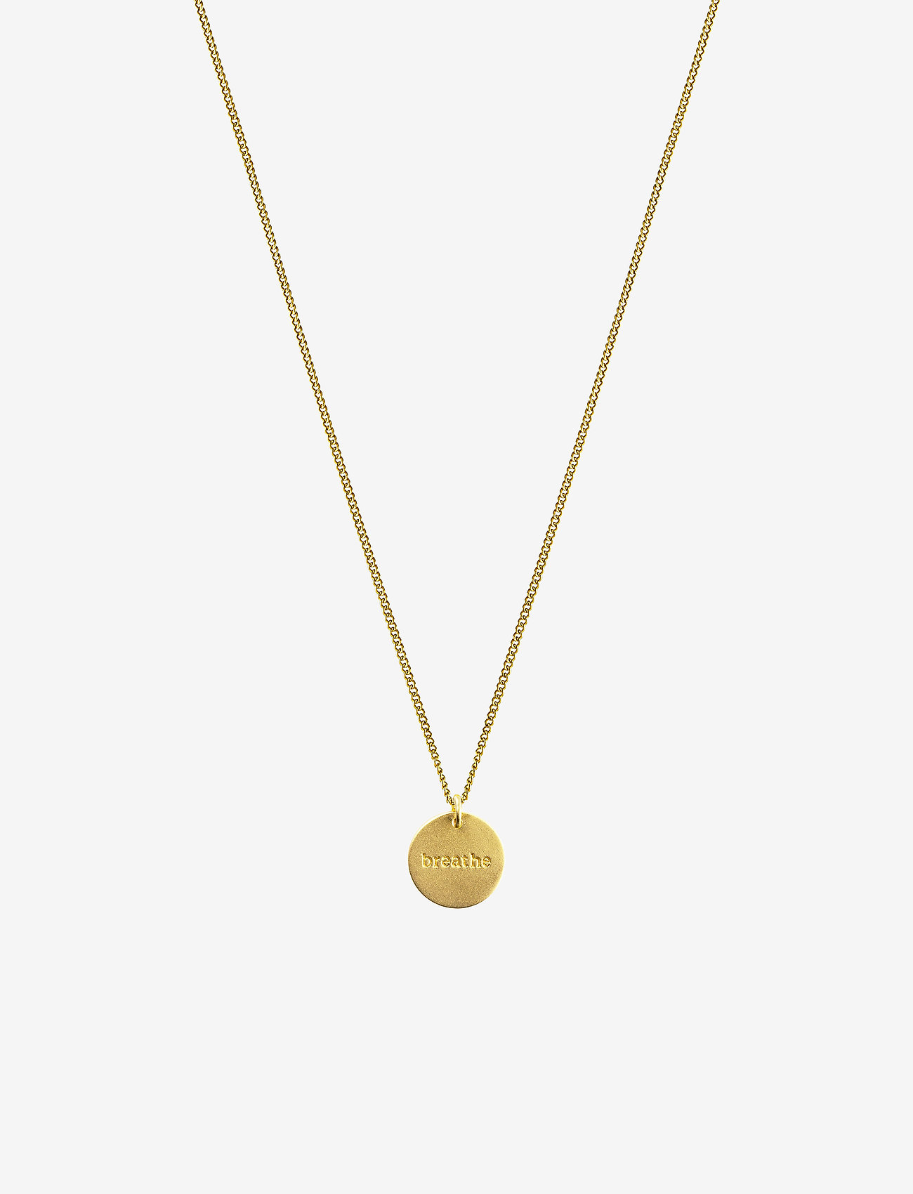 Syster P - MINIMALISTICA BREATHE NECKLACE GOLD - kettingen met hanger - gold - 0