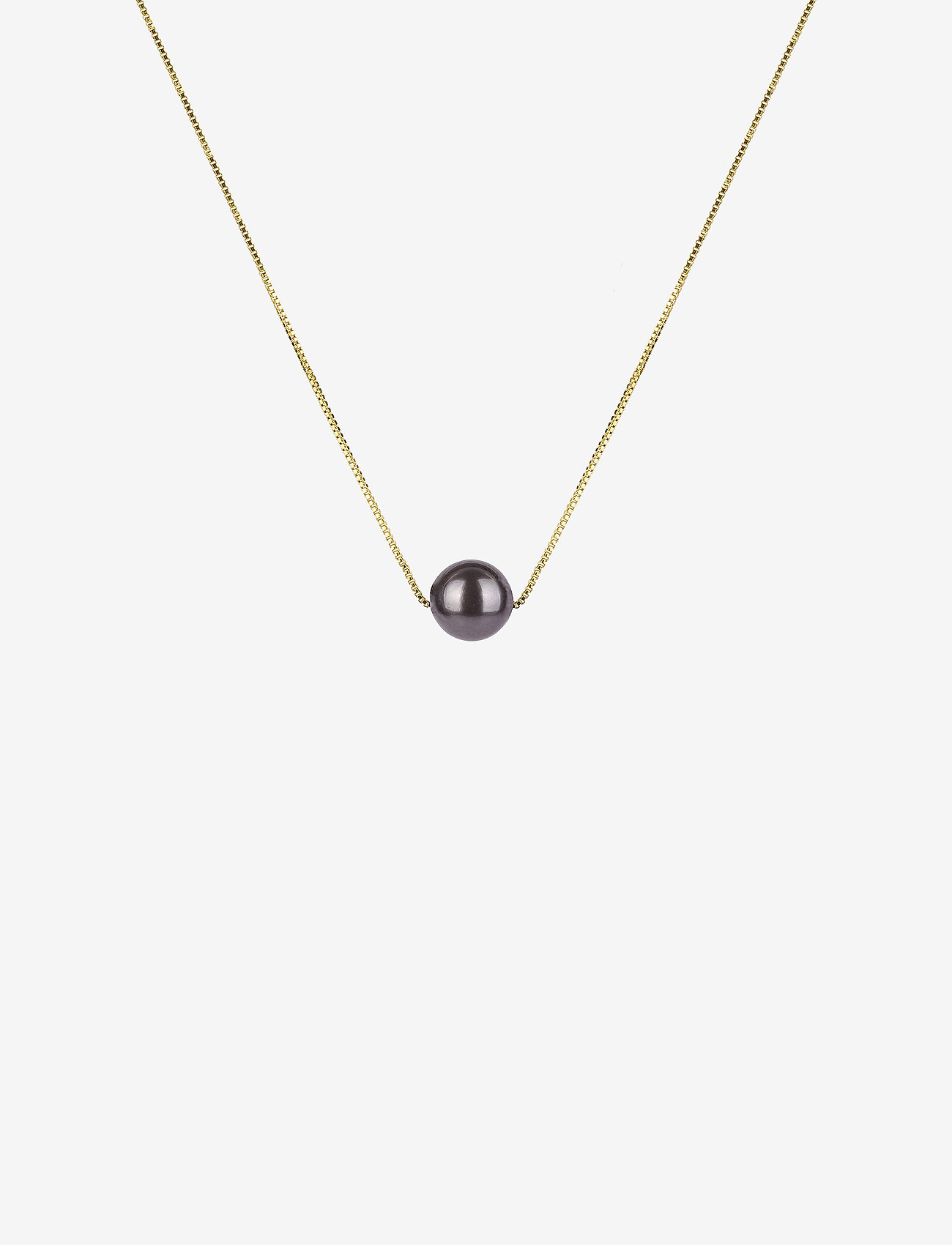 Syster P - Pearly Short Necklace Black - kettingen met hanger - gold - 0