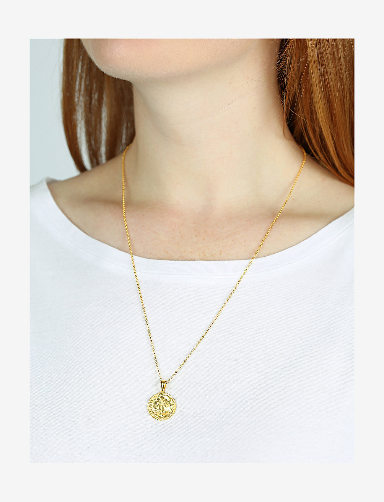 Syster P - Beaches Aphrodite Necklace Gold - kettingen met hanger - gold - 1