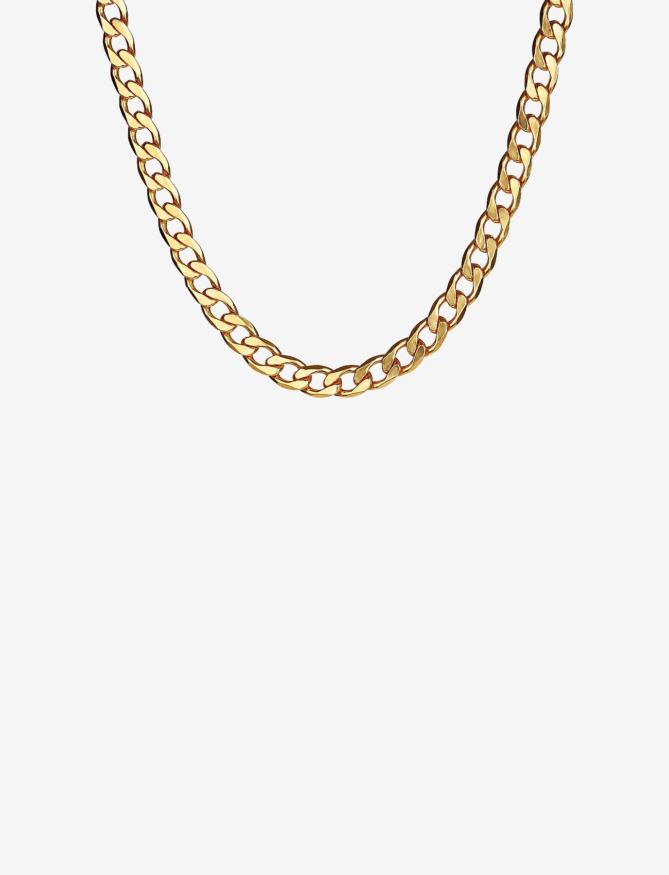 Syster P - Links Curb Chain Necklace Gold - kettingen  - gold - 0