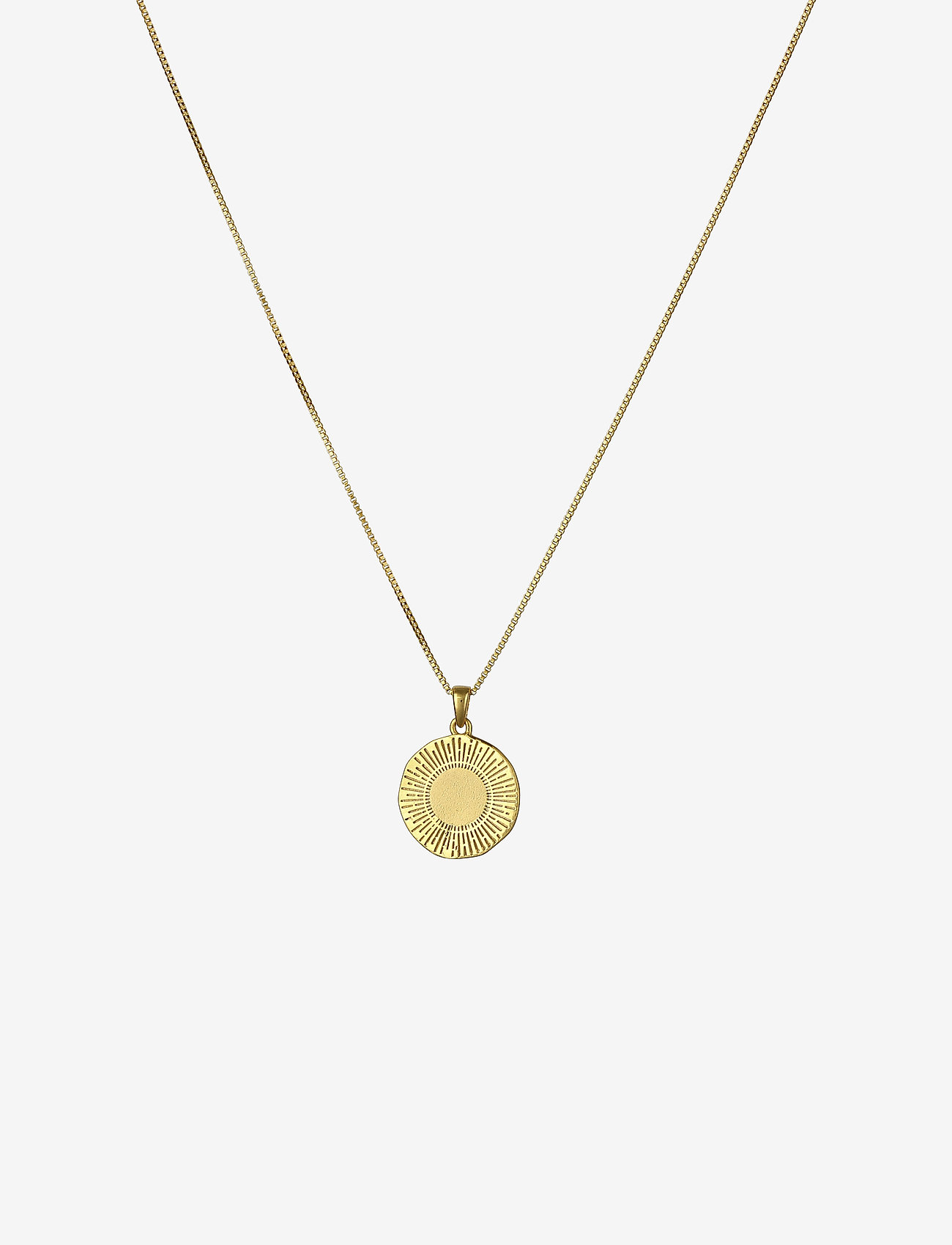 Sunburst Round Pendant Necklace Gold Gold 63 20 Syster P Boozt Com