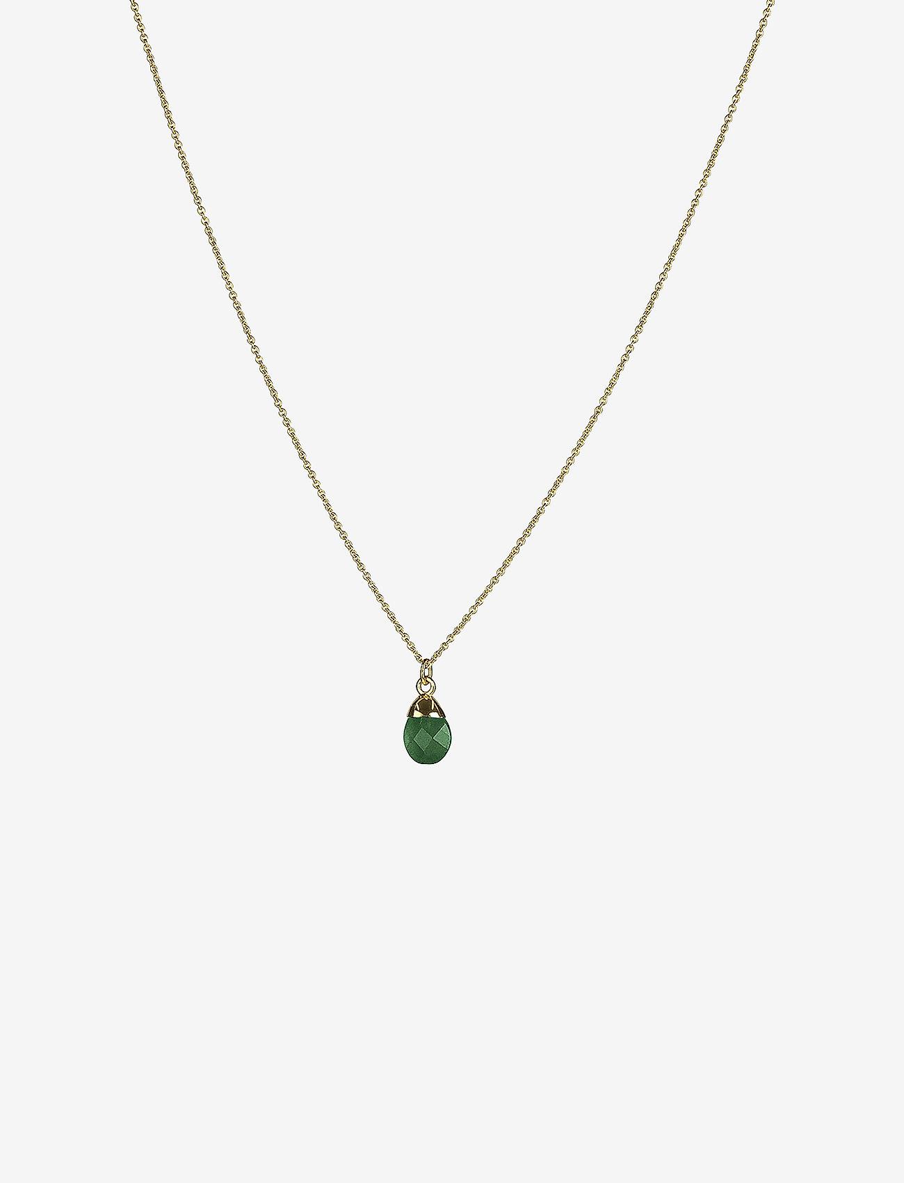 Syster P - Mini Teardrop Necklace Gold - kettingen met hanger - gold - 0