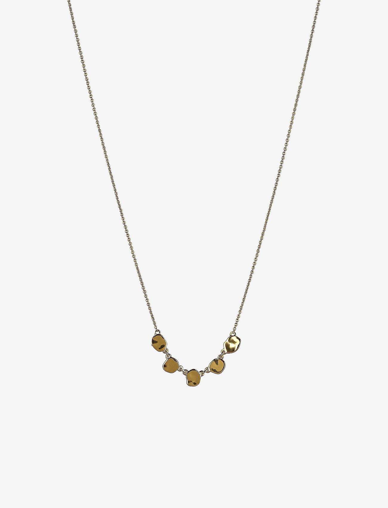 Syster P - Divine Disc Necklace Gold - kettingen met hanger - gold - 0