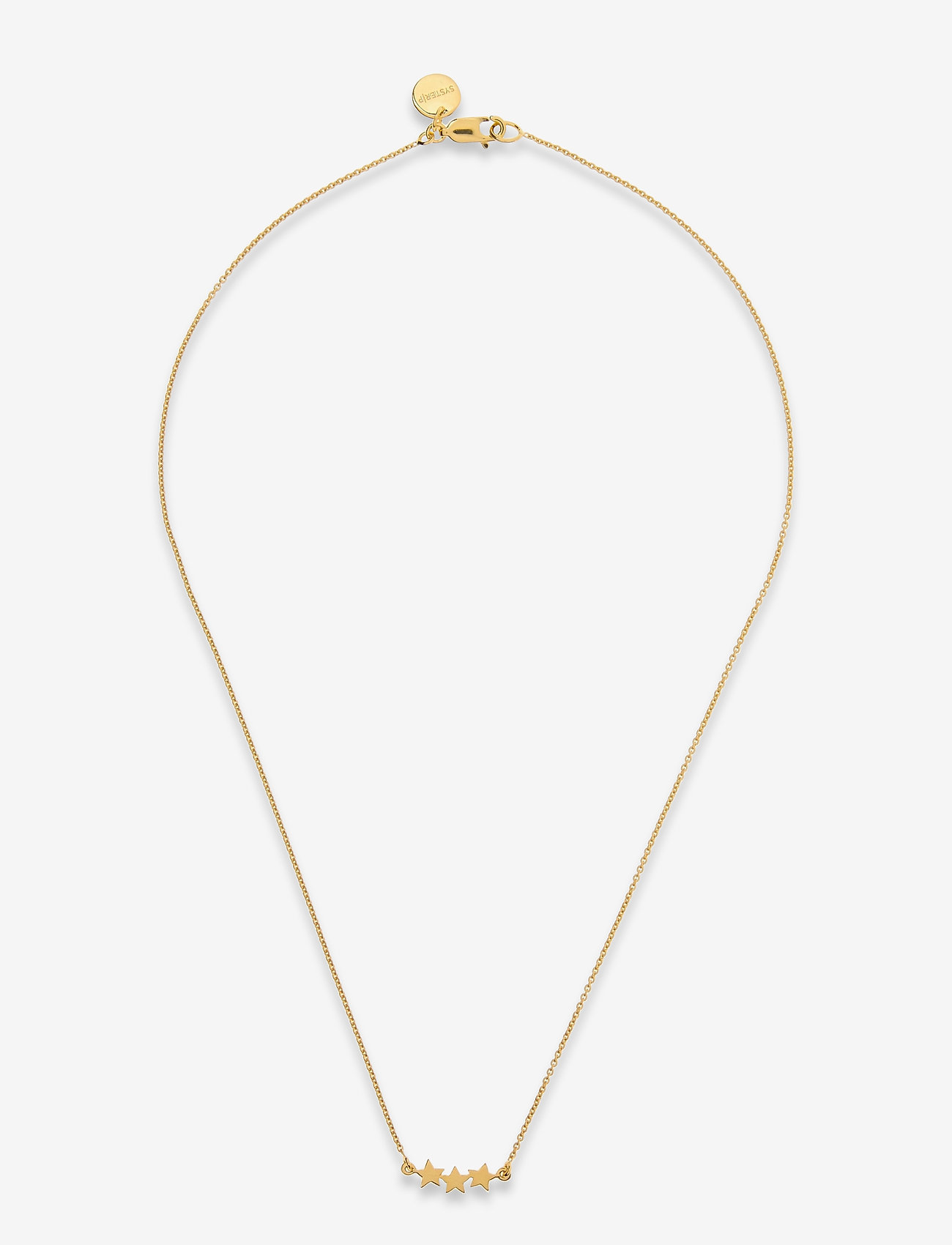 Syster P - Snap Necklace Triple Star Plain Gold - gold - 0