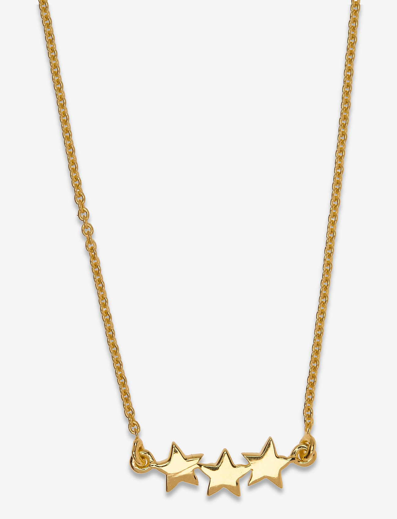 Syster P - Snap Necklace Triple Star Plain Gold - gold - 1