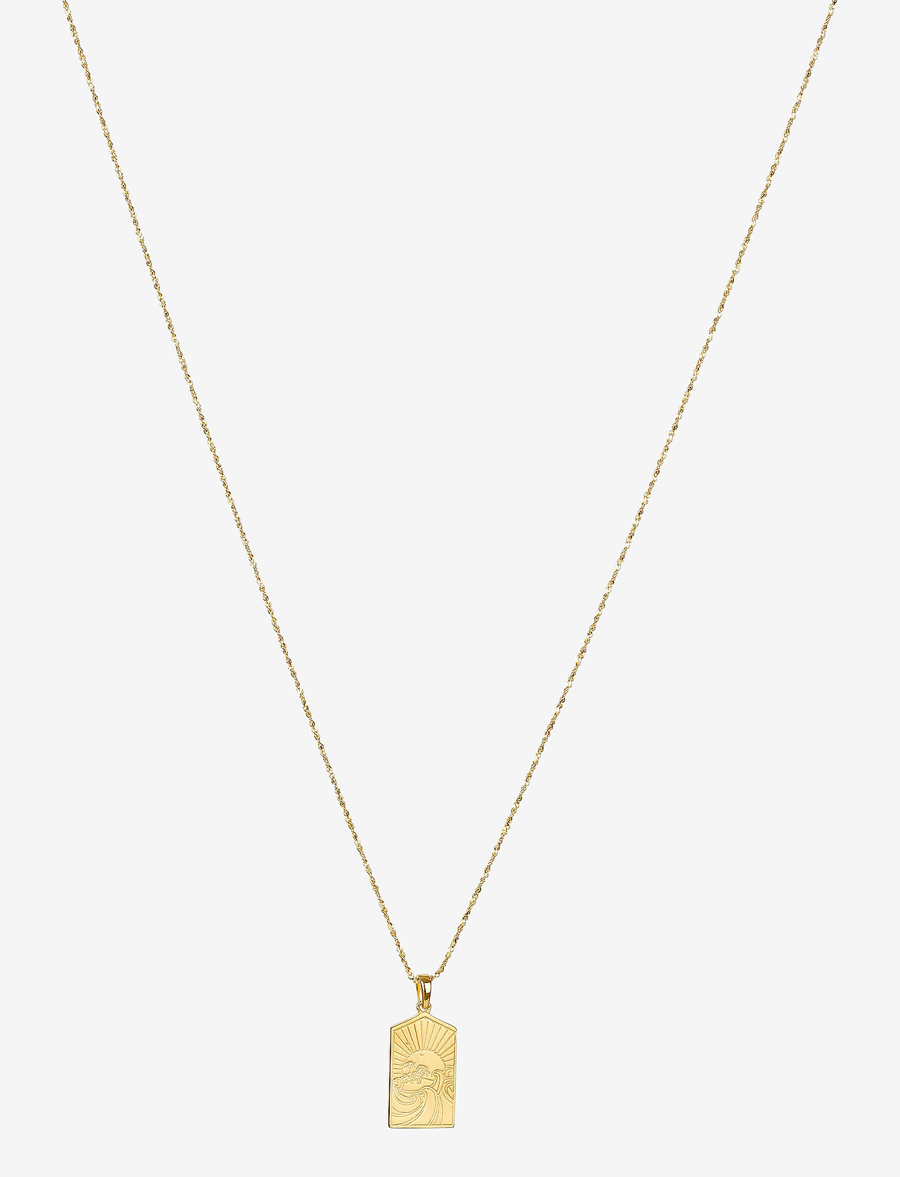 Syster P - Lucky Coin Keep Dreaming Necklace Gold - kettingen met hanger - gold - 0