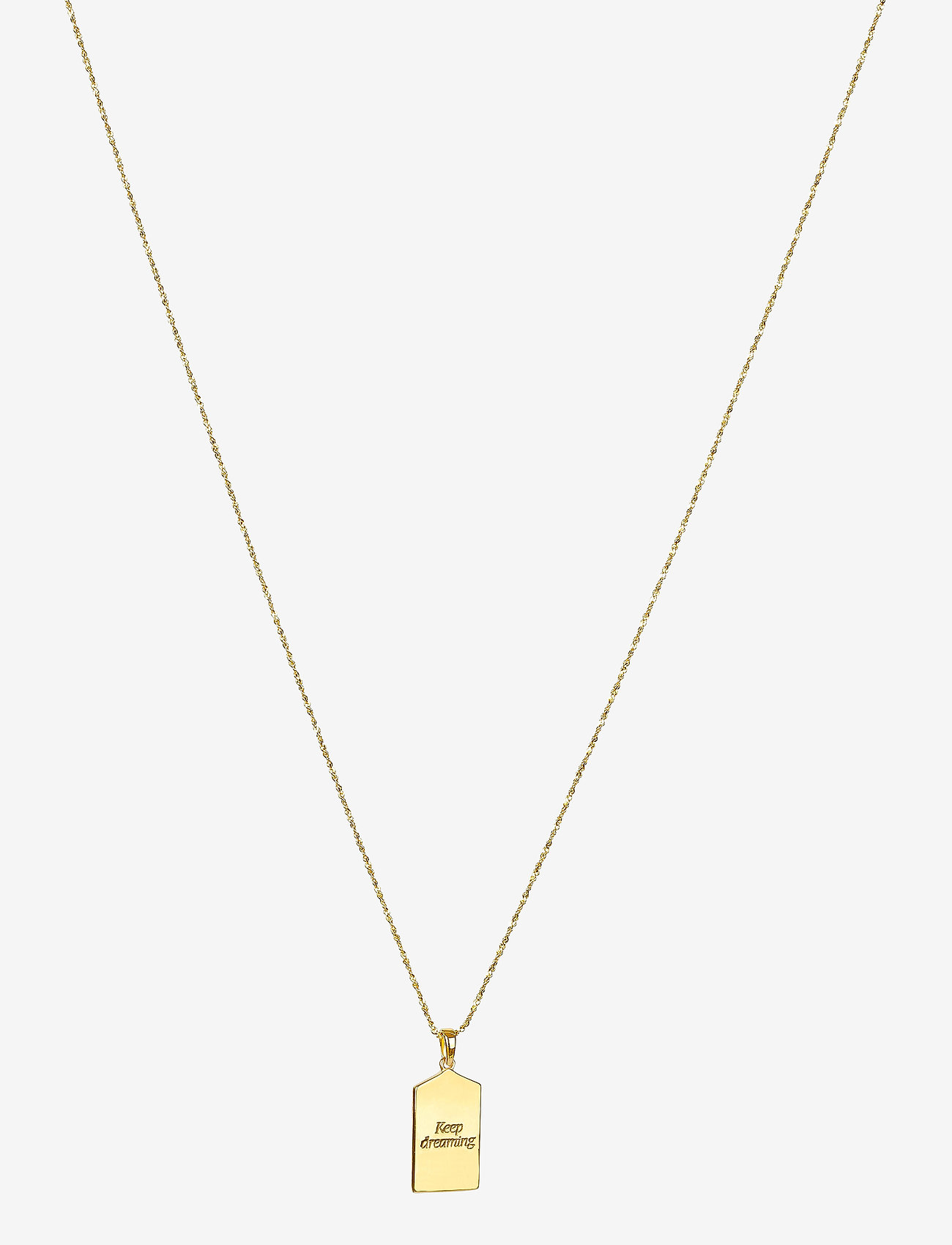 Syster P - Lucky Coin Keep Dreaming Necklace Gold - kettingen met hanger - gold - 1
