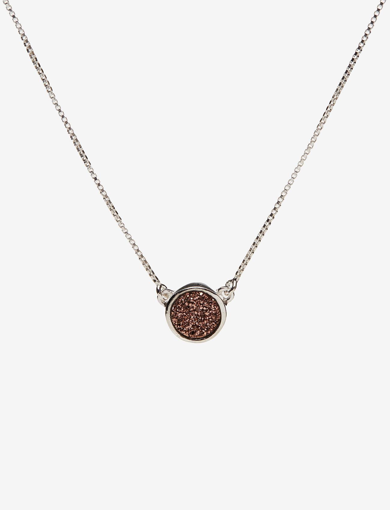 Syster P - Frances Druzy Necklace Silver Rose - kettingen met hanger - silver - 0