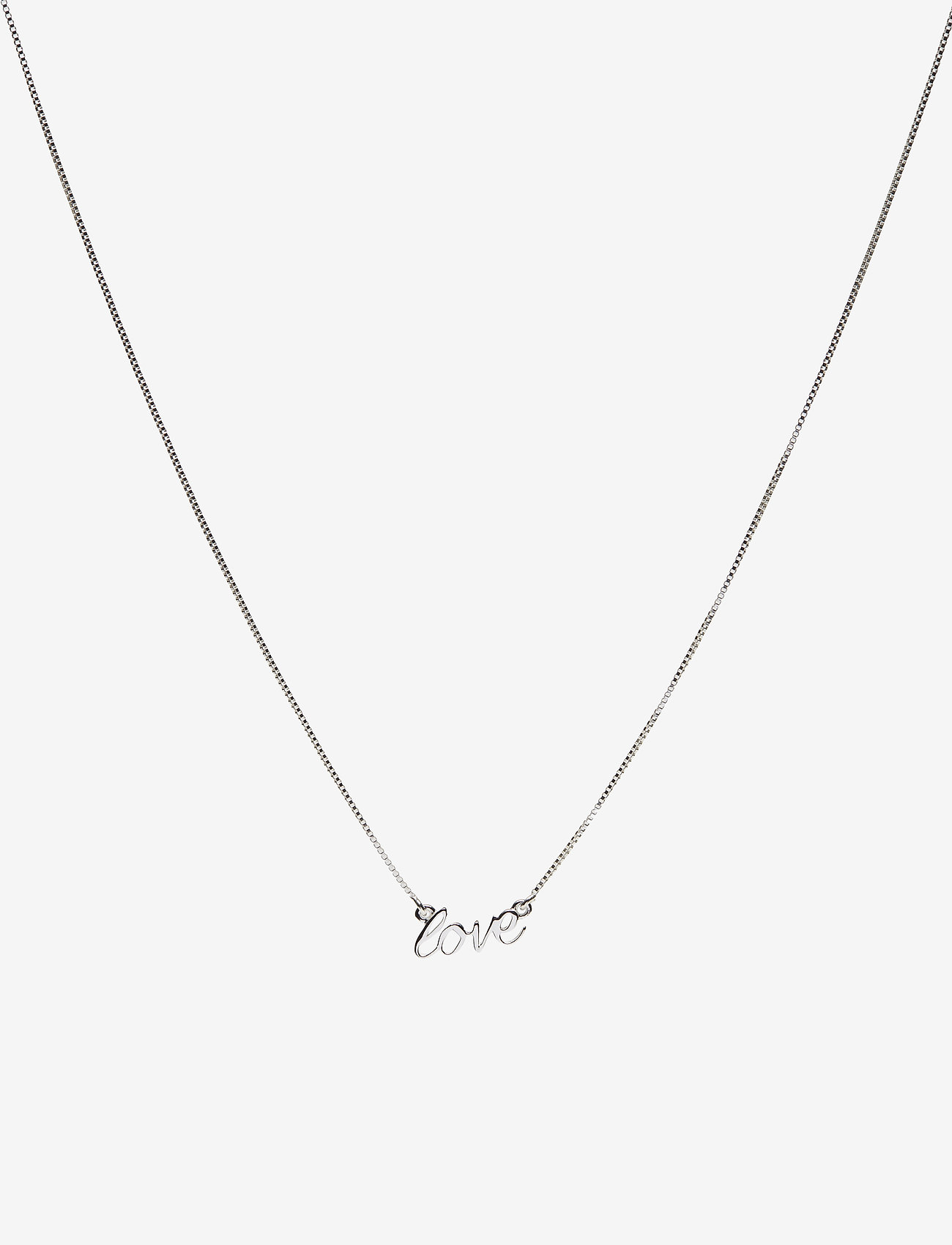 Syster P - SNAP NECKLACE LOVE SILVER - kettingen met hanger - silver - 0