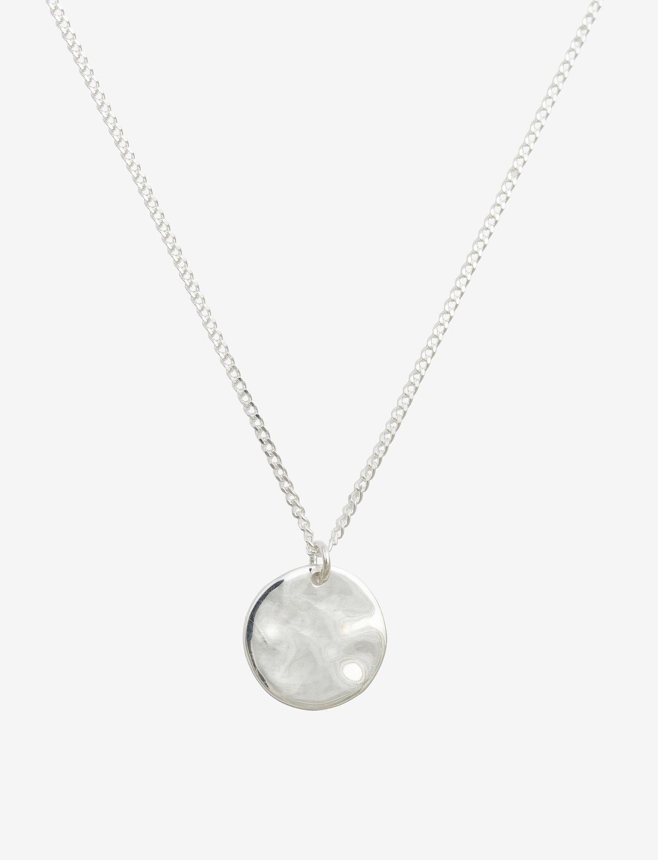Syster P MINIMALISTICA HAMMERED CIRCLE NECKLACE SILVER - Biżuteria SILVER - Akcesoria