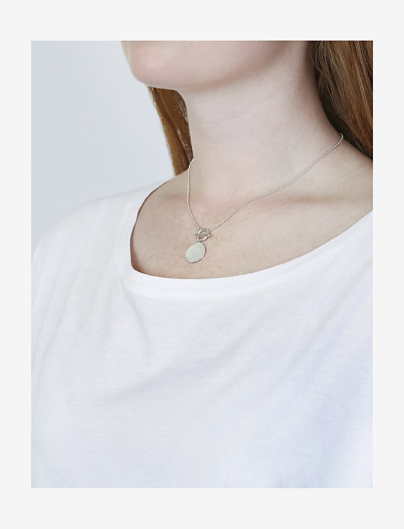 Syster P Links True Love Necklace Silver - Biżuteria SILVER - Akcesoria