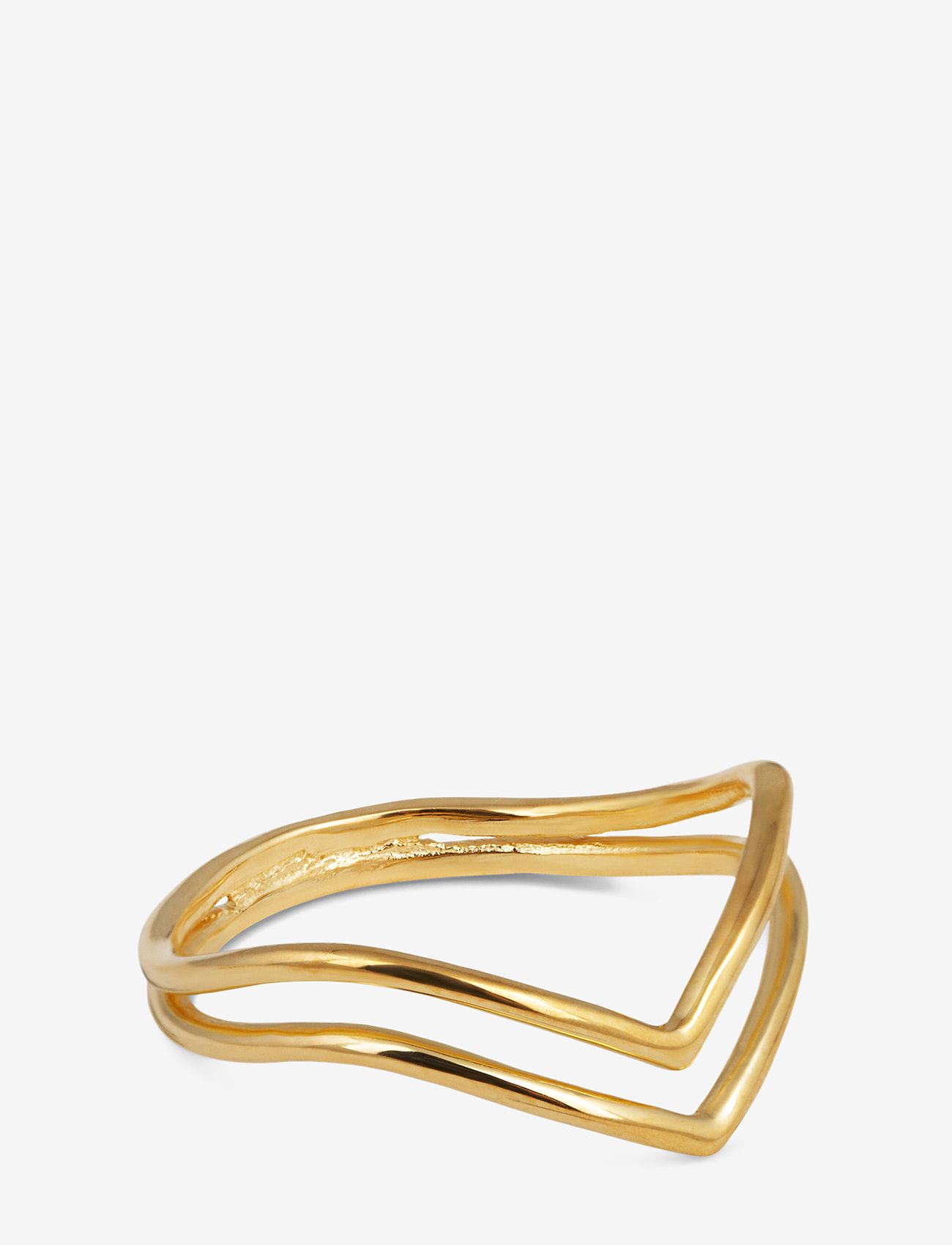 Syster P - Tiny Arrow Fingertip Ring Gold - gredzeni - gold - 0