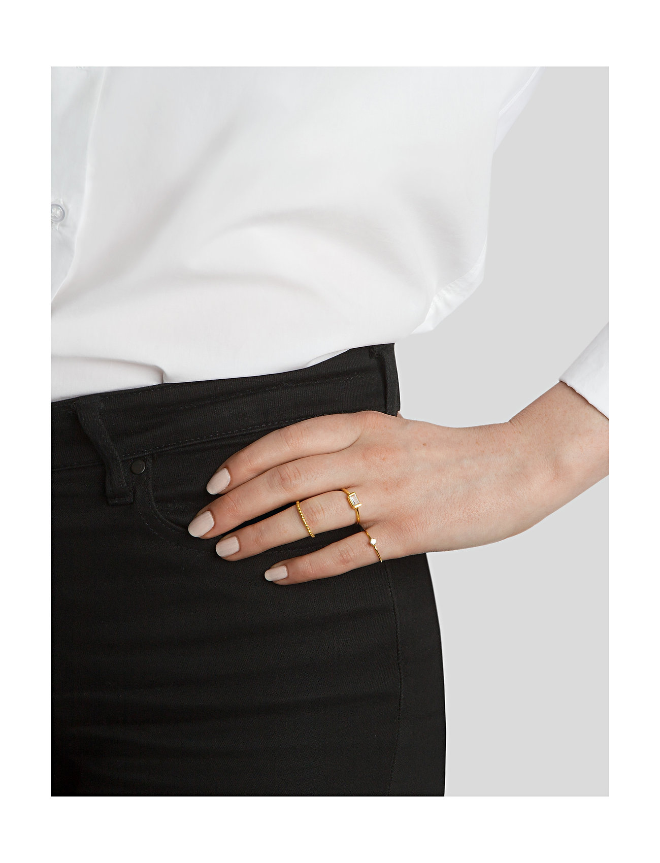 Syster P - Tiny Dots Ring Gold - ringen - gold - 1