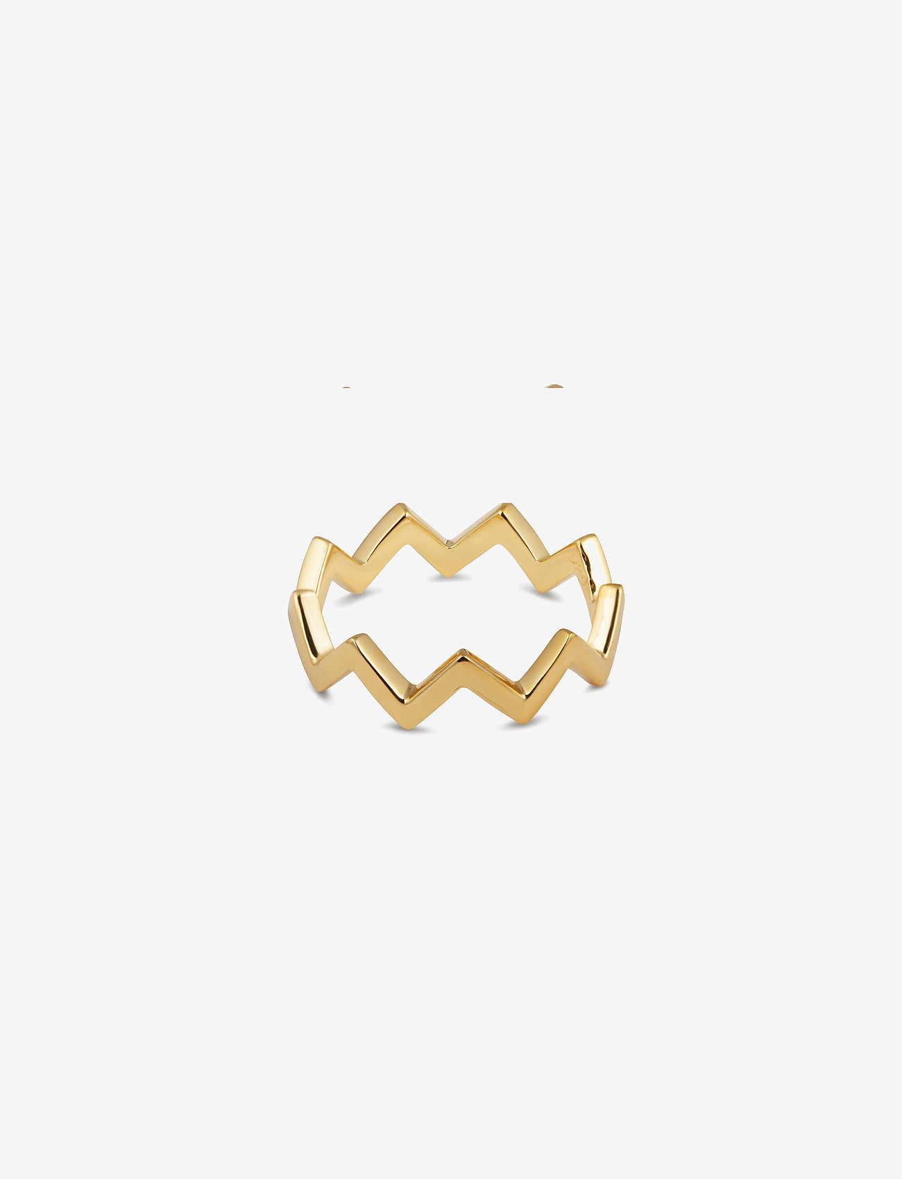 Syster P - Strict Plain Zigzag Ring Gold - ringen - gold - 0