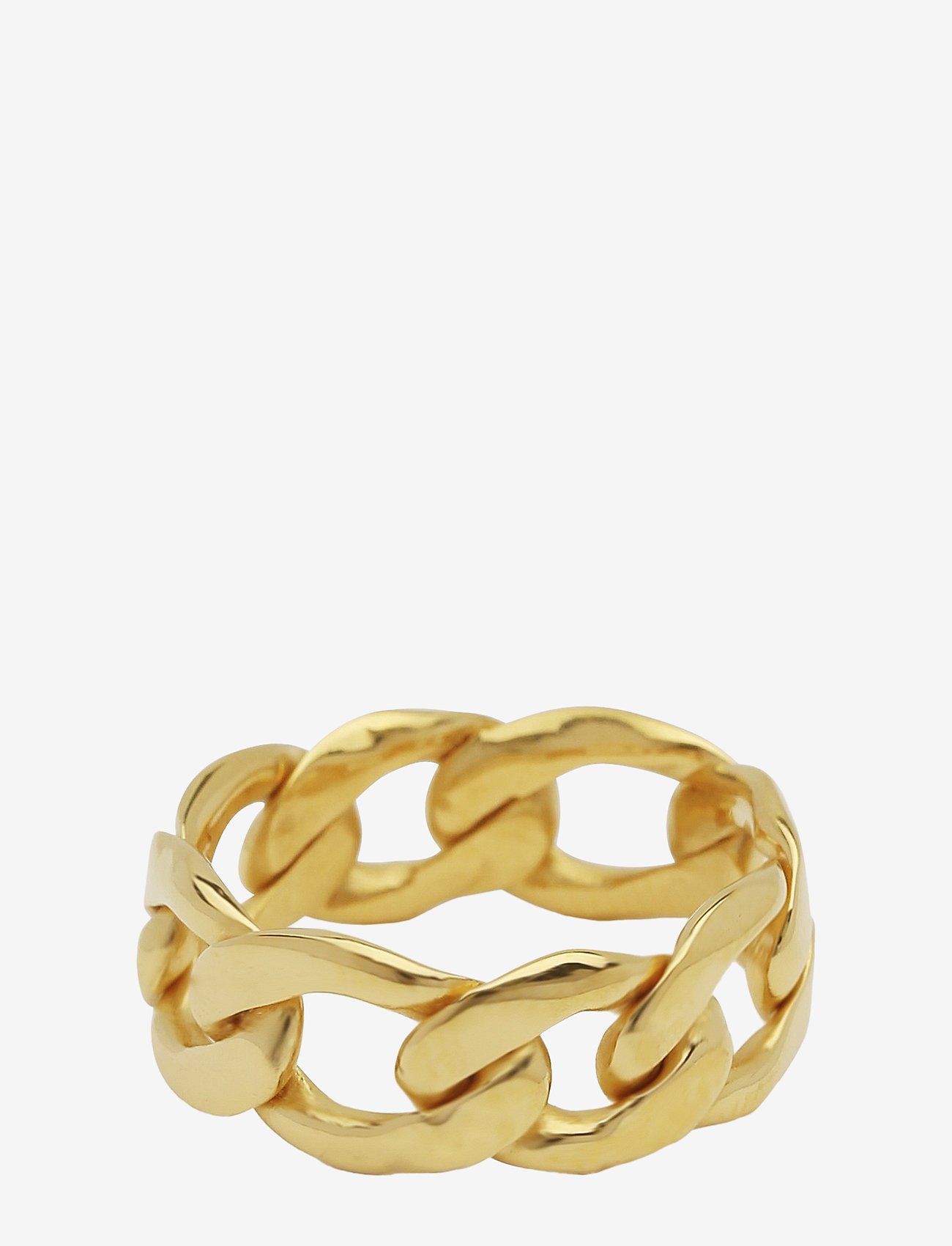 Syster P - Links Curb Chain Ring Gold - ringen - gold - 0