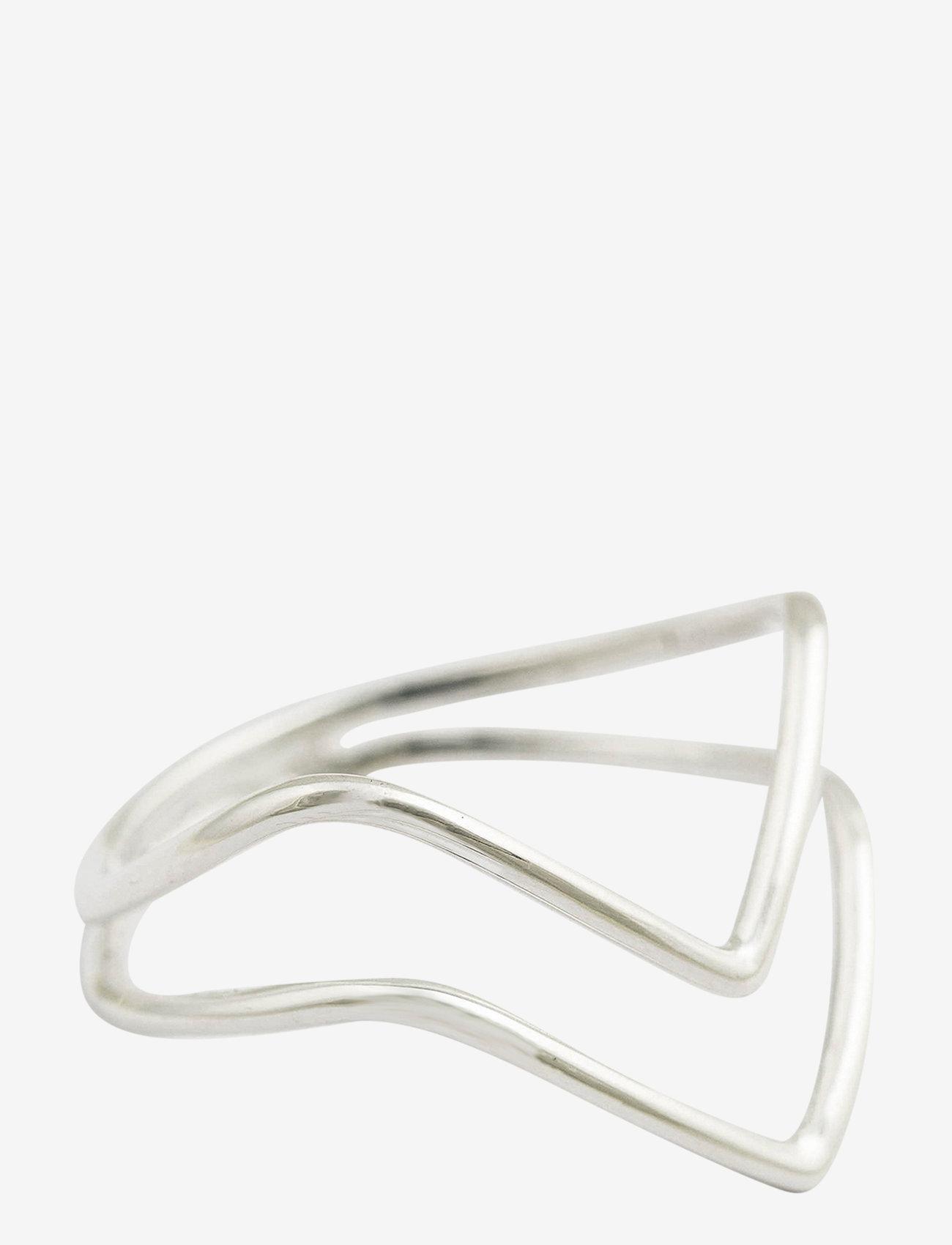 Syster P - Tiny Arrow Fingertip Ring Silver - gredzeni - silver - 0