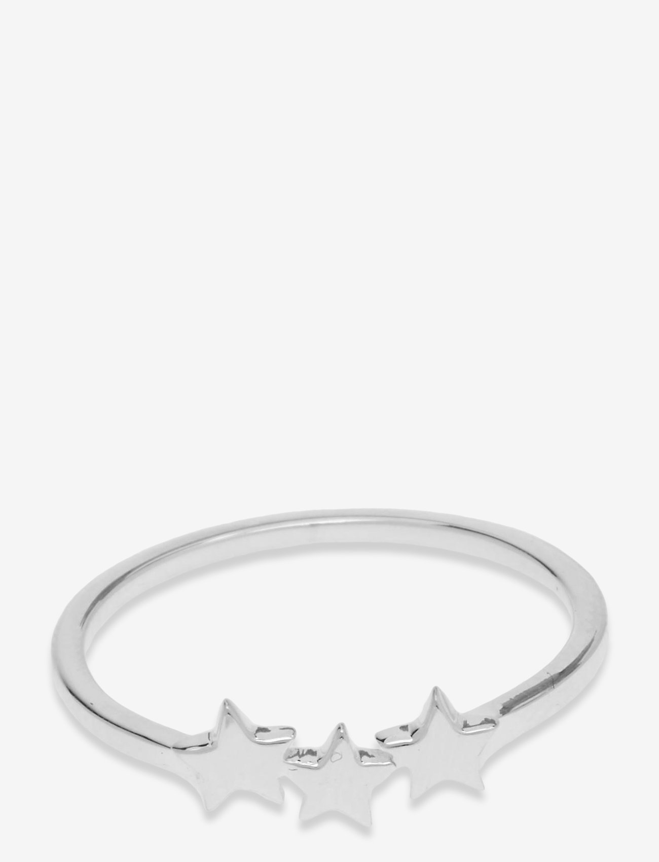 Syster P - Snap Ring Plain Triple Star Silver - ringen - silver - 1