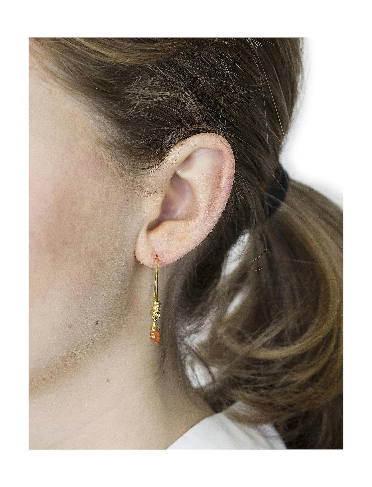 Syster P - Mini Teardrop Earrings Gold - korvarenkaat - gold